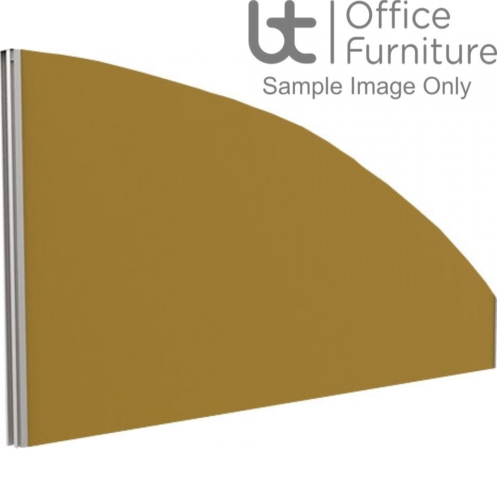 Innovate Venice Fabric Desk Mounted Arc Screen 380-50mm High - Linking