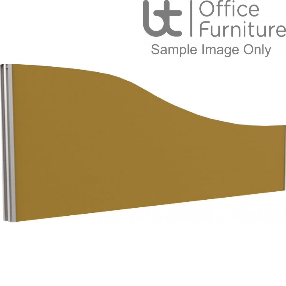 Innovate Venice Fabric Desk Mounted Wave Screen 480-280mm High - Linking