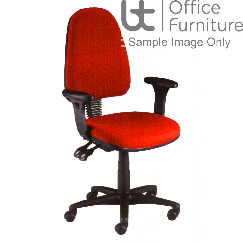Verco Operator/Task Chair - Look High Back Chair with Adjustable Arms