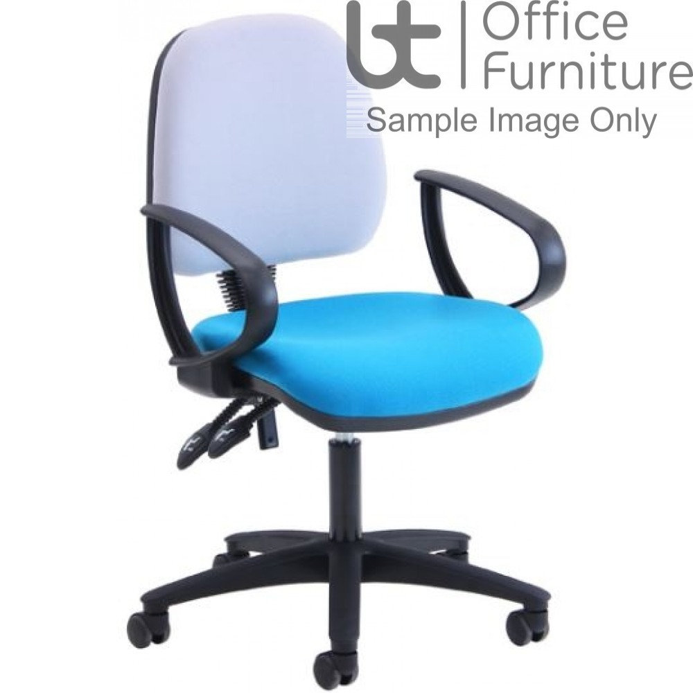 Verco Operator/Task Chair - Look Medium Back Chair with Arms