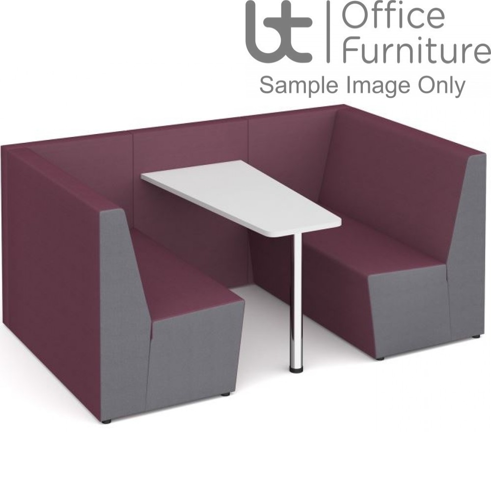 Ziggie Low Back 4 Person Meeting Booth with Table - made to order