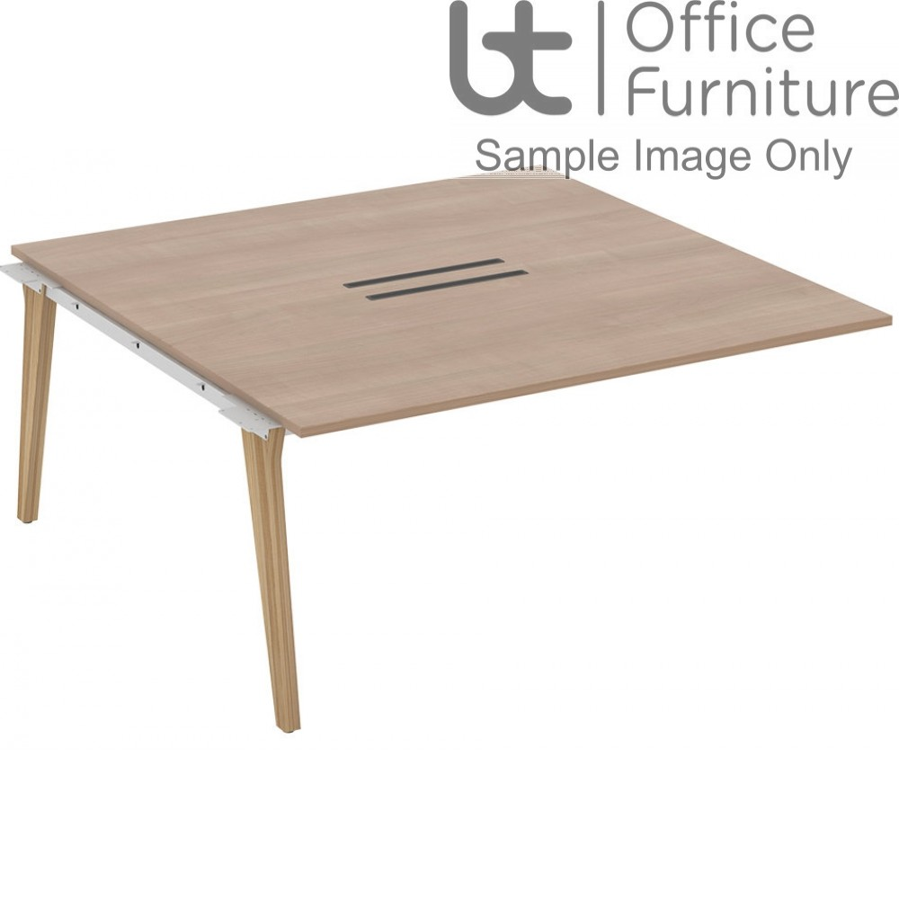 Elite Lux Combined Add-On Double Bench with Shared Leg 1200mm Deep