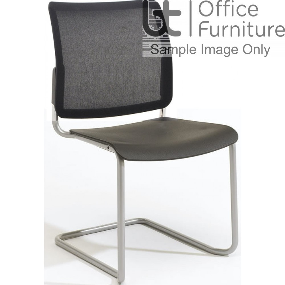 Verco Visitor / Conference Seating - Add Cantilever Mesh Back Plastic Stacking Chair