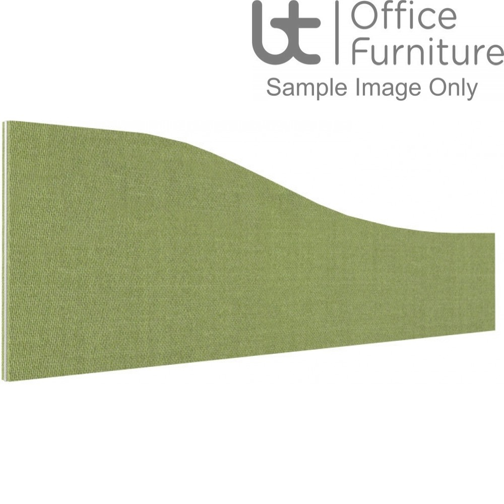 Innovate Venice Fabric Desk Mounted Wave Screen 480-280mm High - Non Linking