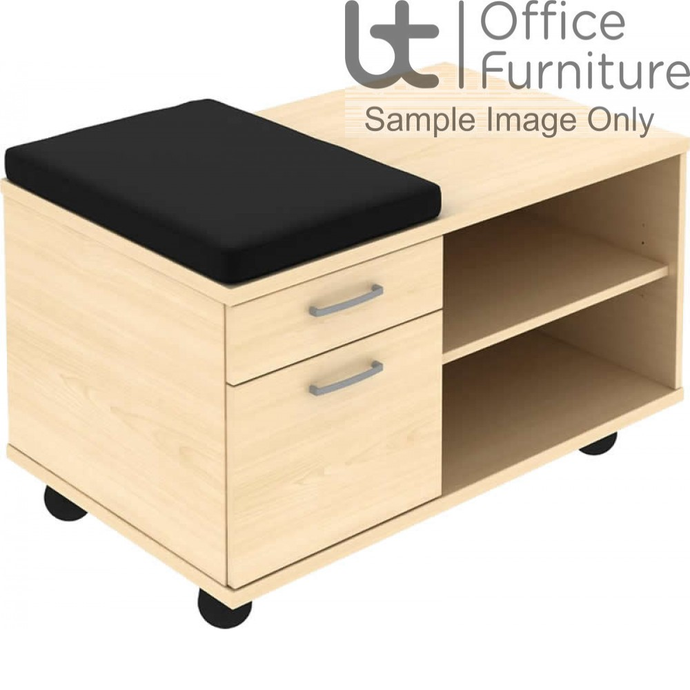 Elite Personal 2 & 3 Drawer Single Sided Mobile Under Desk With Seat Padestal