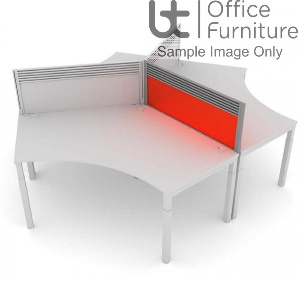 Elite Advance System Screen 120 Degree with Management Rail - Acrylic For Advance only