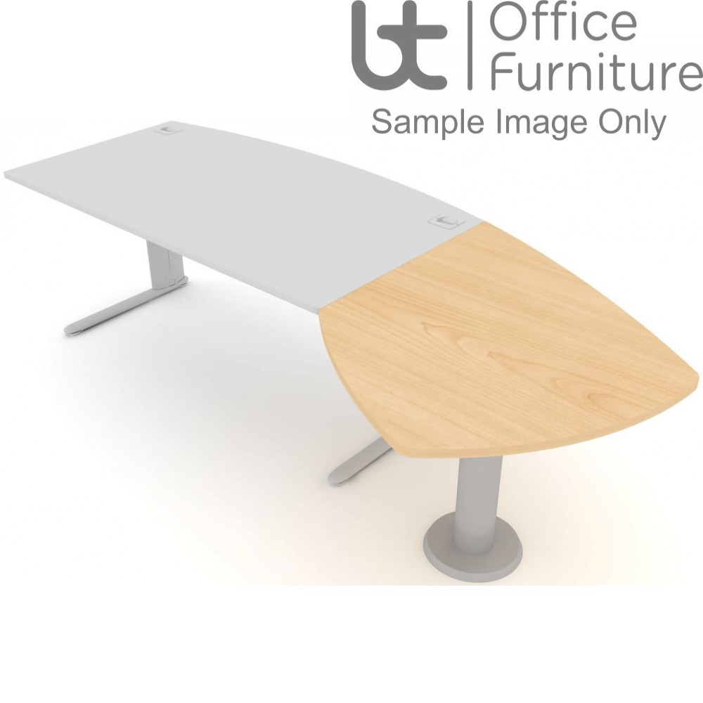 Elite Desk Extension - Bow Extension Meeting Table