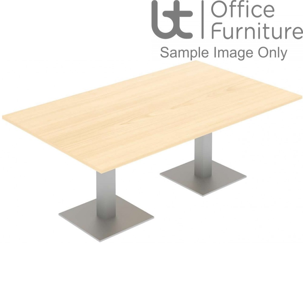 Elite Optima Plus Table - Square Leg Rectangular Conference Table Seating Up-To 8 People