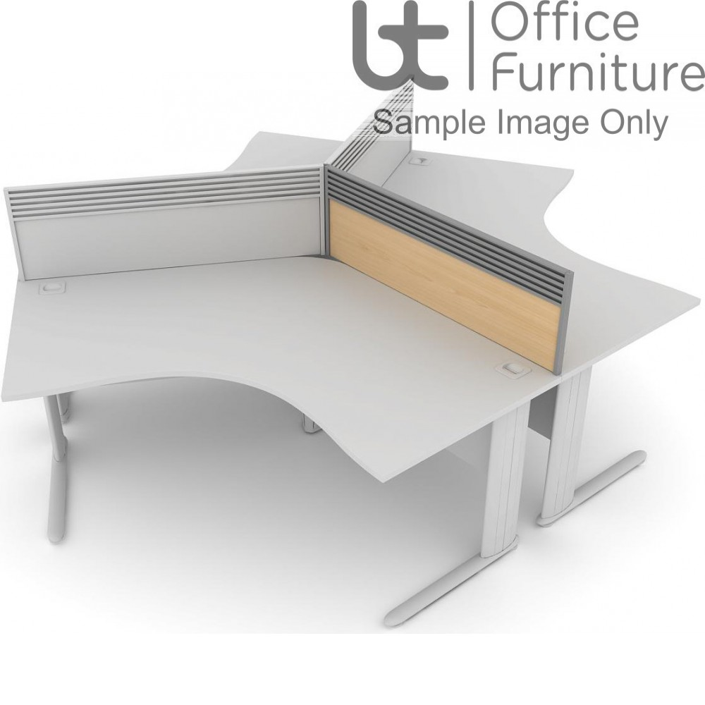 Elite System Screen 120 Degree with Management Rail - MFC