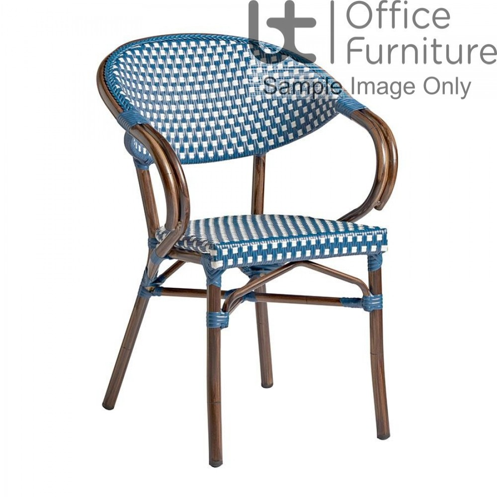 ZP PANDA Arm Chair – Blue and White Weave