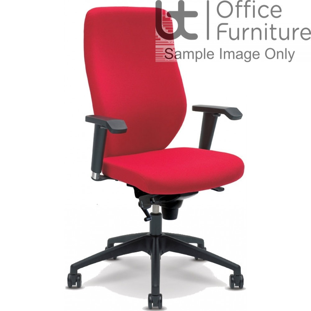 Verco Operator/Task Chair - Profile High Back Task Chair with Adjustable Arms