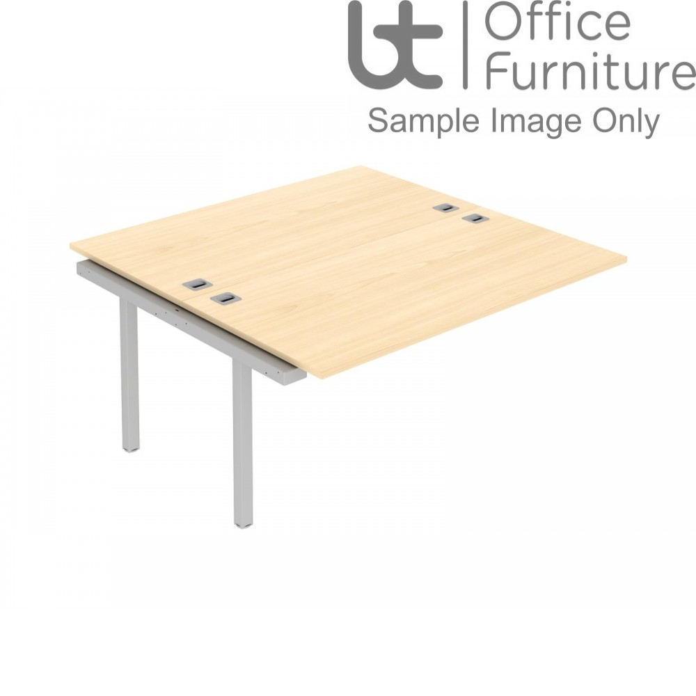 Elite Matrix Double Bench With Shared Inset Leg 1600mm Ends
