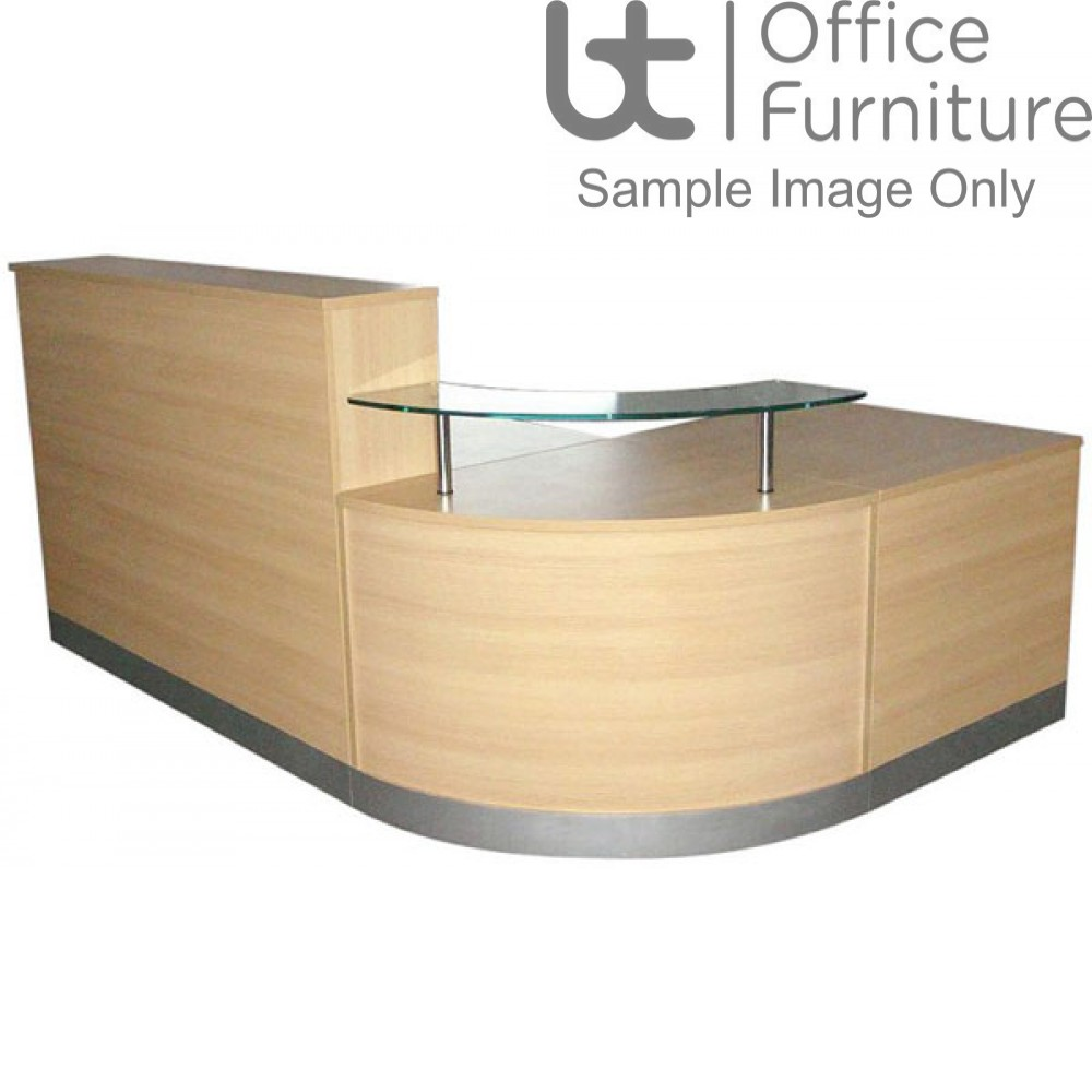Budget Classic Curved Reception Counter