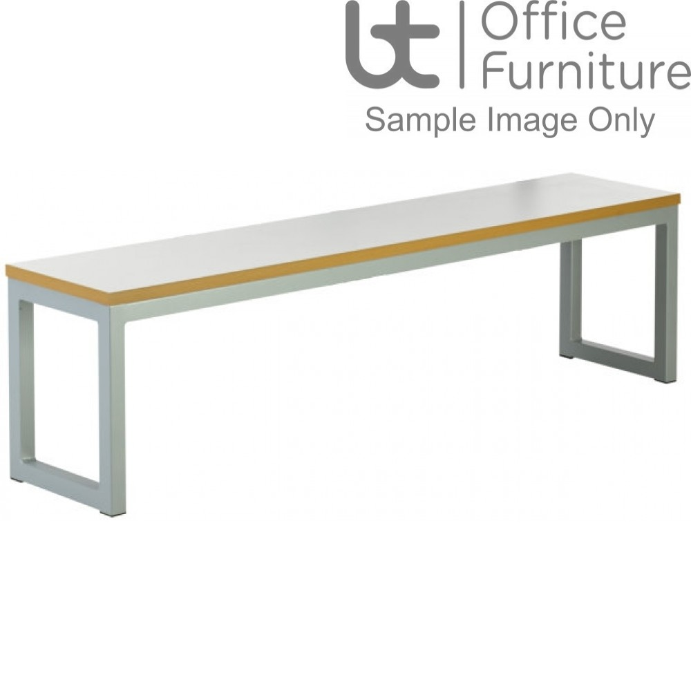 Urban 40/40 Robust 25mm Laminate Top School Bench Seat W1400mm (Std Frame Colours)