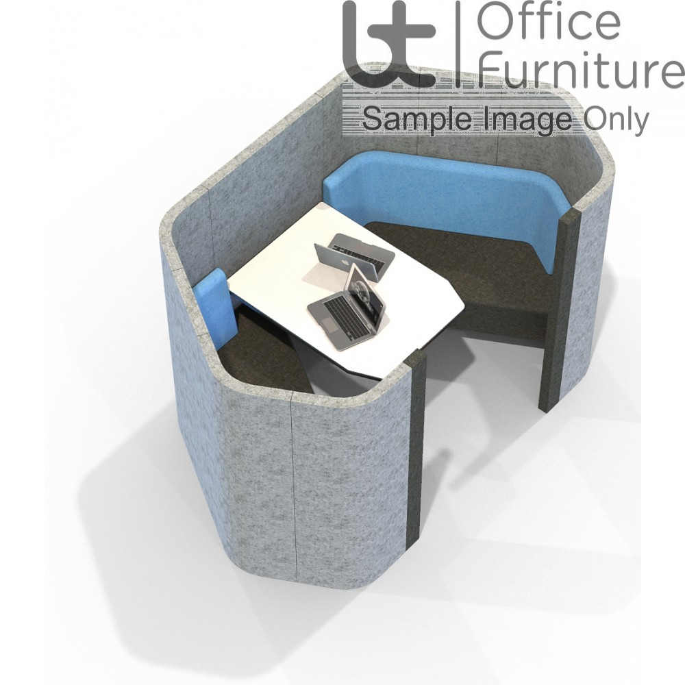 Acoustic Social - 2 Person Hexagonal Pod/Booth Including Table (3 Height Options)