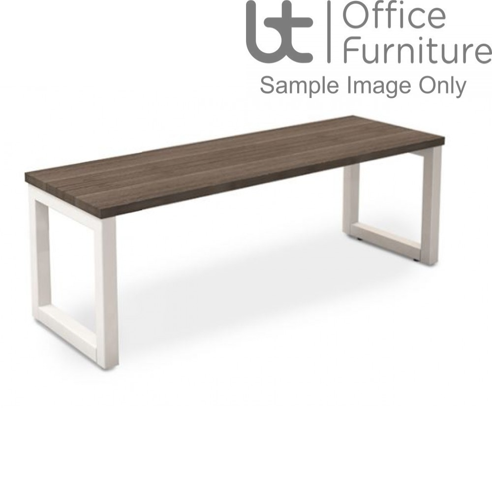 Robust Block Steel Frame Bench Seat W1200 x D350 x H410mm