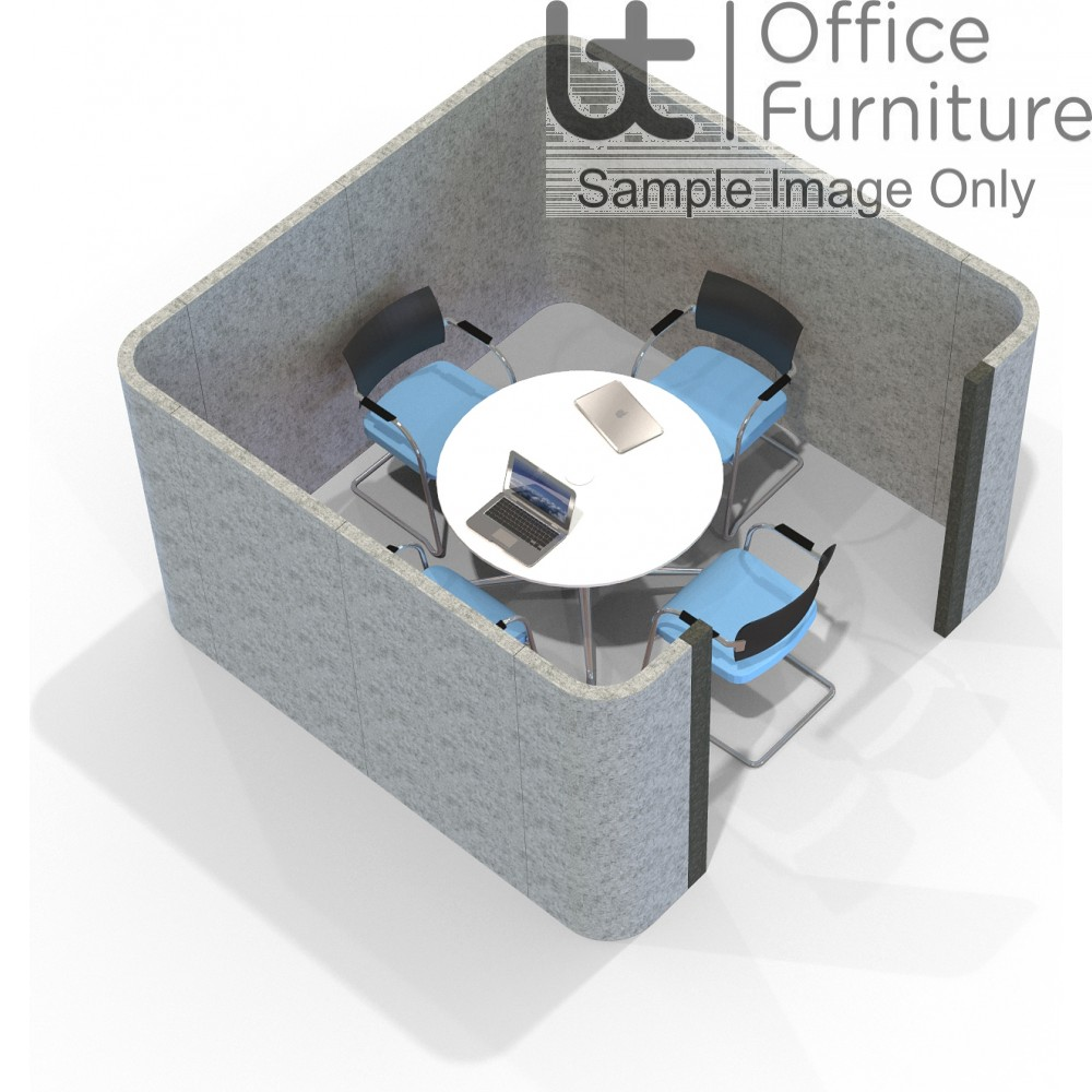 Acoustic Meeting - Square Meeting Room Booth 2.4 x 2.4M Inc Table