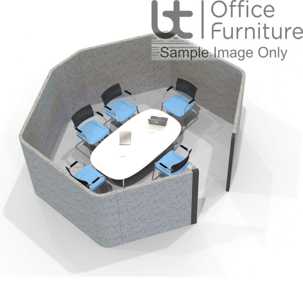 Acoustic Meeting - Octagonal  6 Person Meeting Room Booth Inc Table