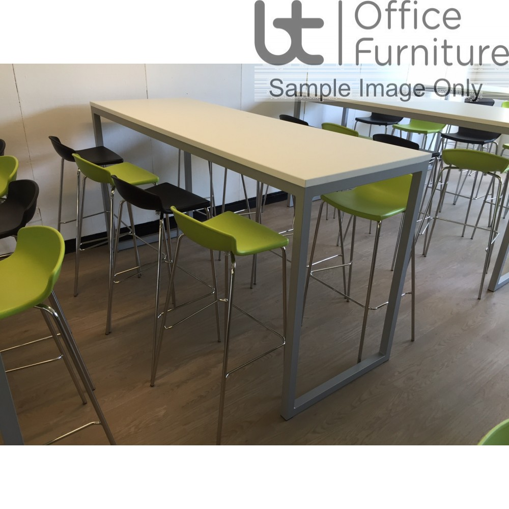 Urban 40/40 Robust 25mm Laminate Top School Bench Dining Poseur Table W2200mm (Std Frame Colours)