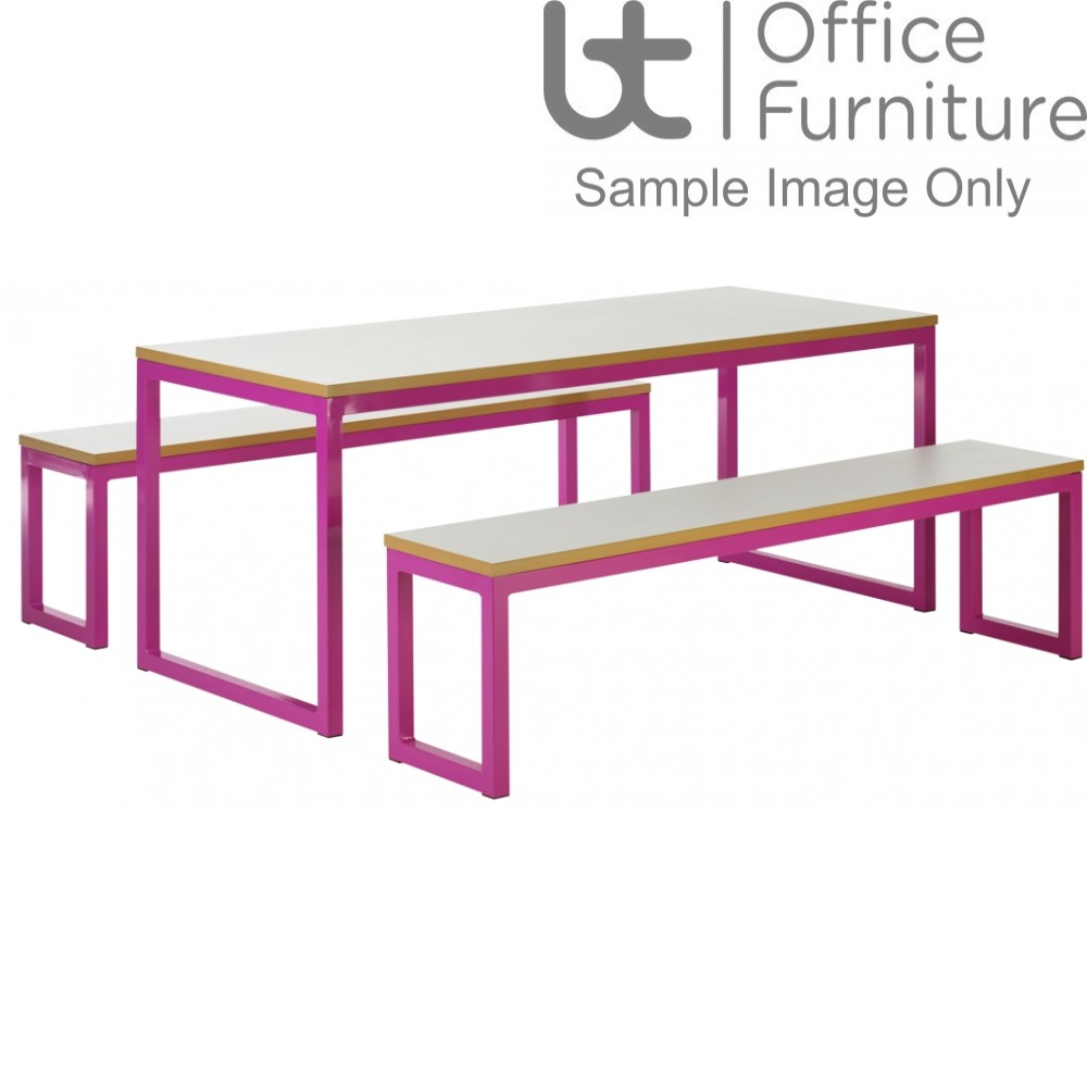 Urban 40/40 Robust 25mm Laminate Top School Bench Dining Sets W2200mm (Premium Frame Colours)