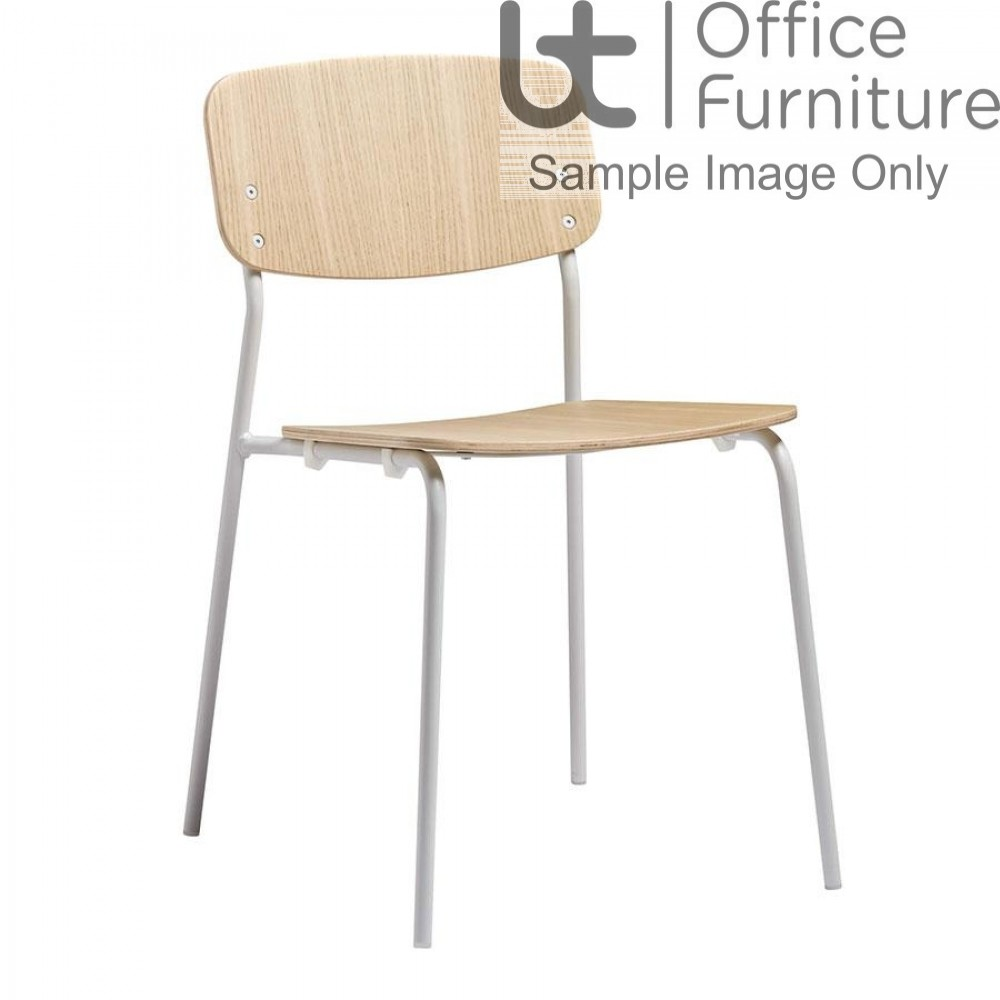 ZP VORSTA Side Chair - Clear Ash with White Frame