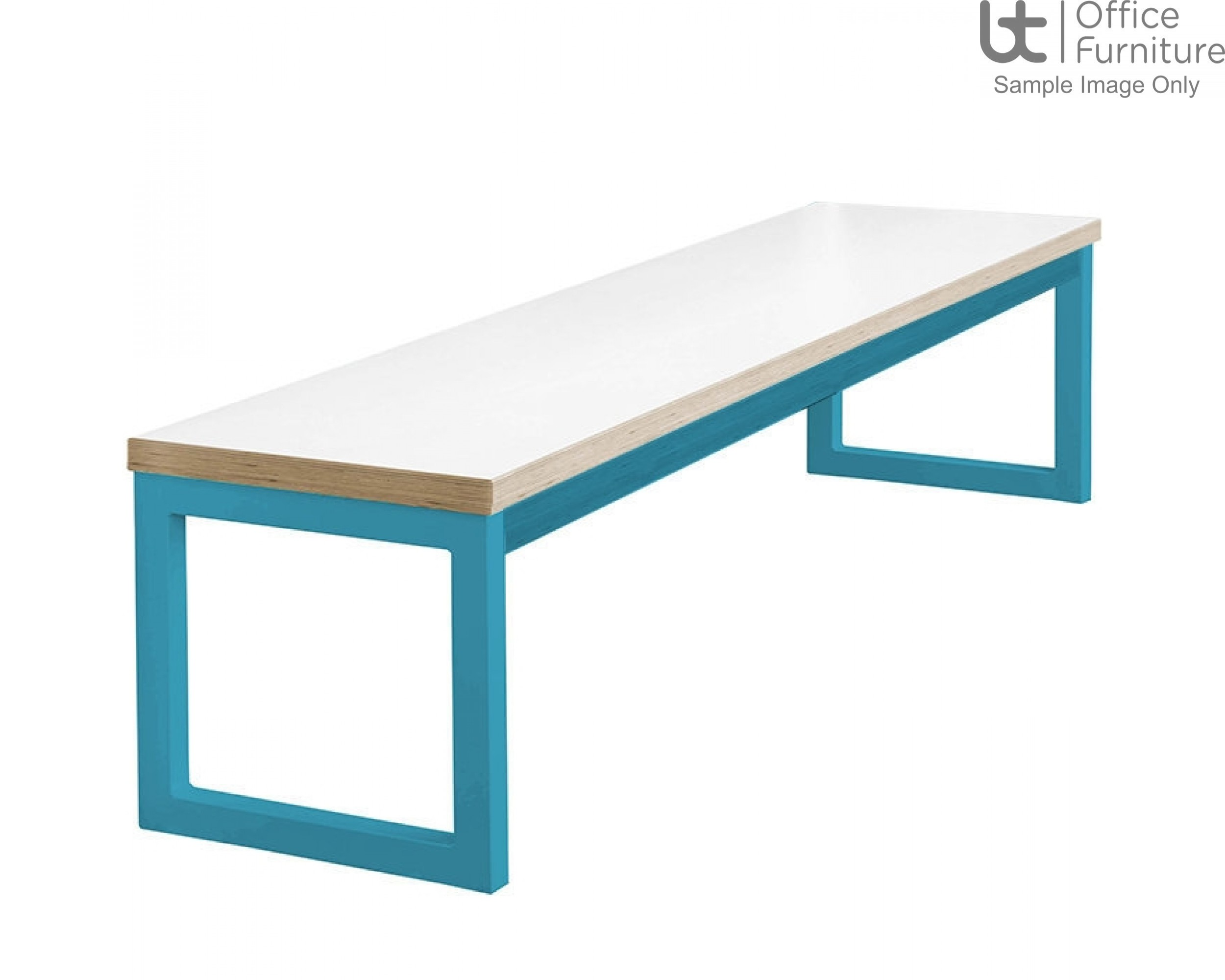 City 40/40 Robust 40mm Laminate Top School Bench Seat W1700mm (Premium Frame Colours)
