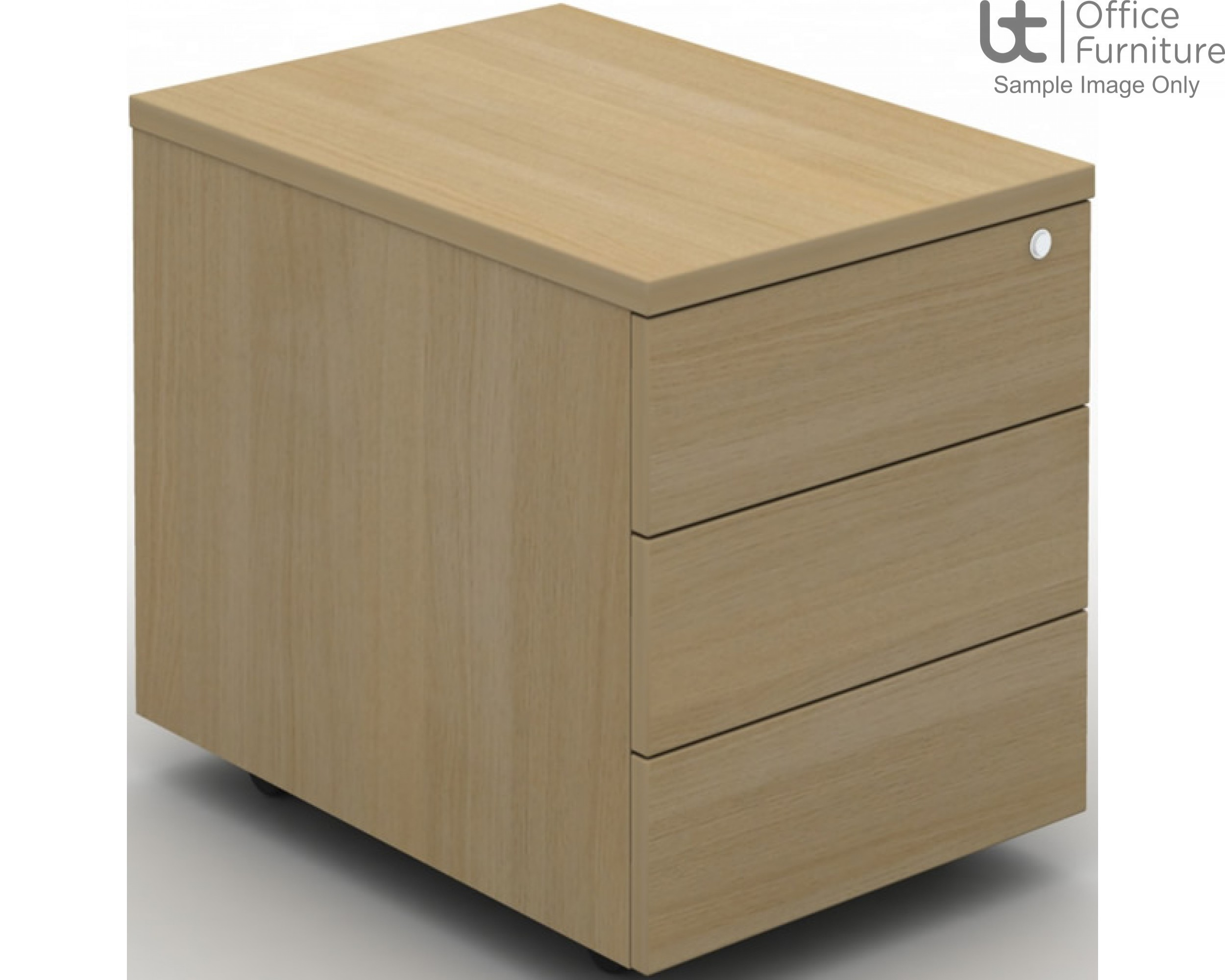 MB Storage Solutions -  Fixed 3 Drawer MFC Pedestal