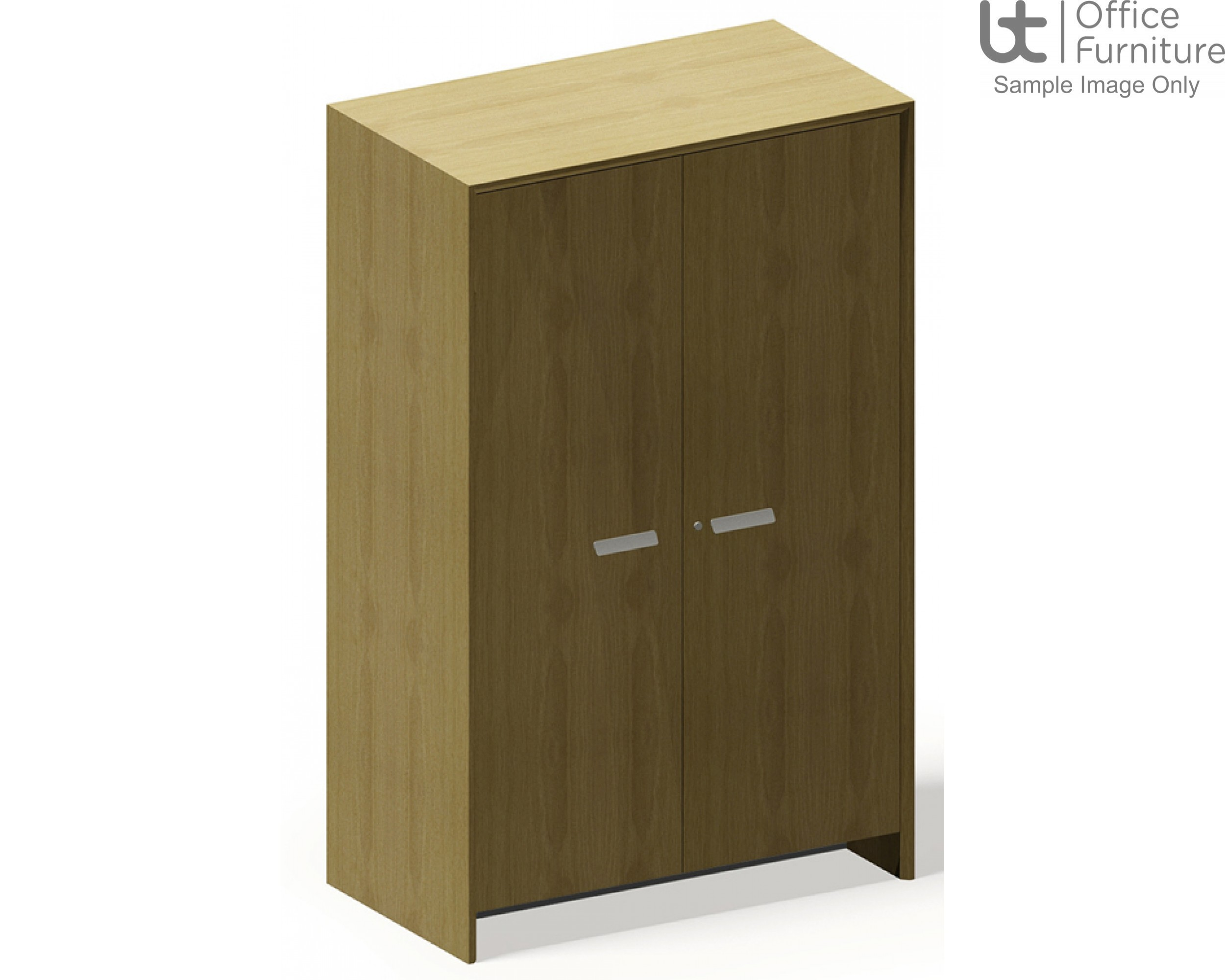 Aston Tall Cupboard with Single Vertical Division and Six Adjustable Narrow Shelves