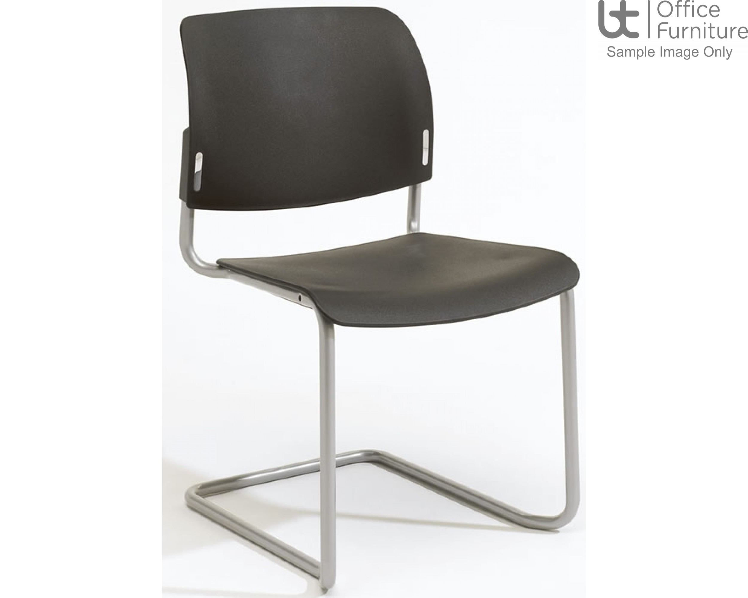 Verco Visitor / Conference Seating - Add Cantilever Plastic Stacking Chair