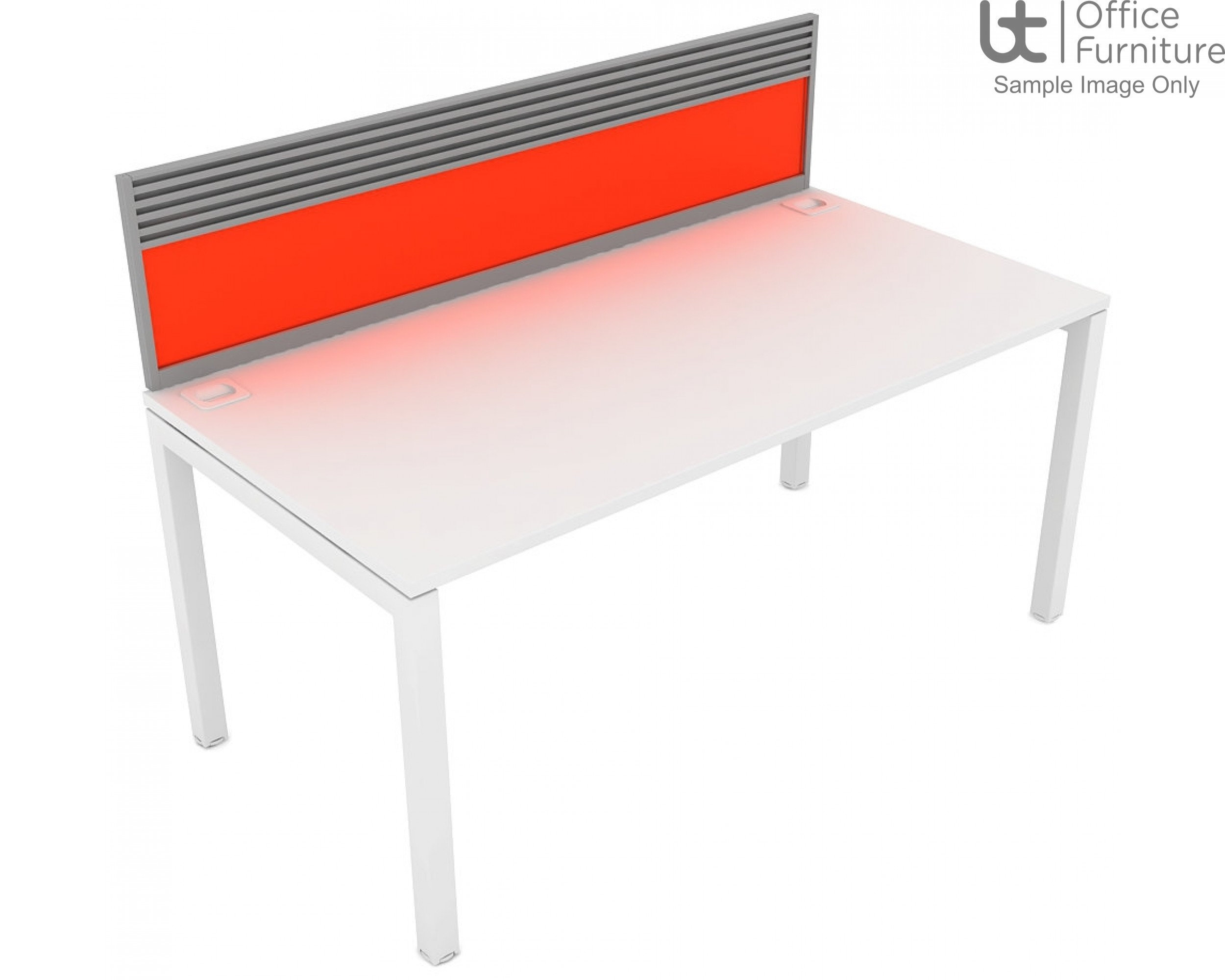 Elite Matrix Screen - Acrylic (Fixed Height) System Screen For Single Desk with Management Rail
