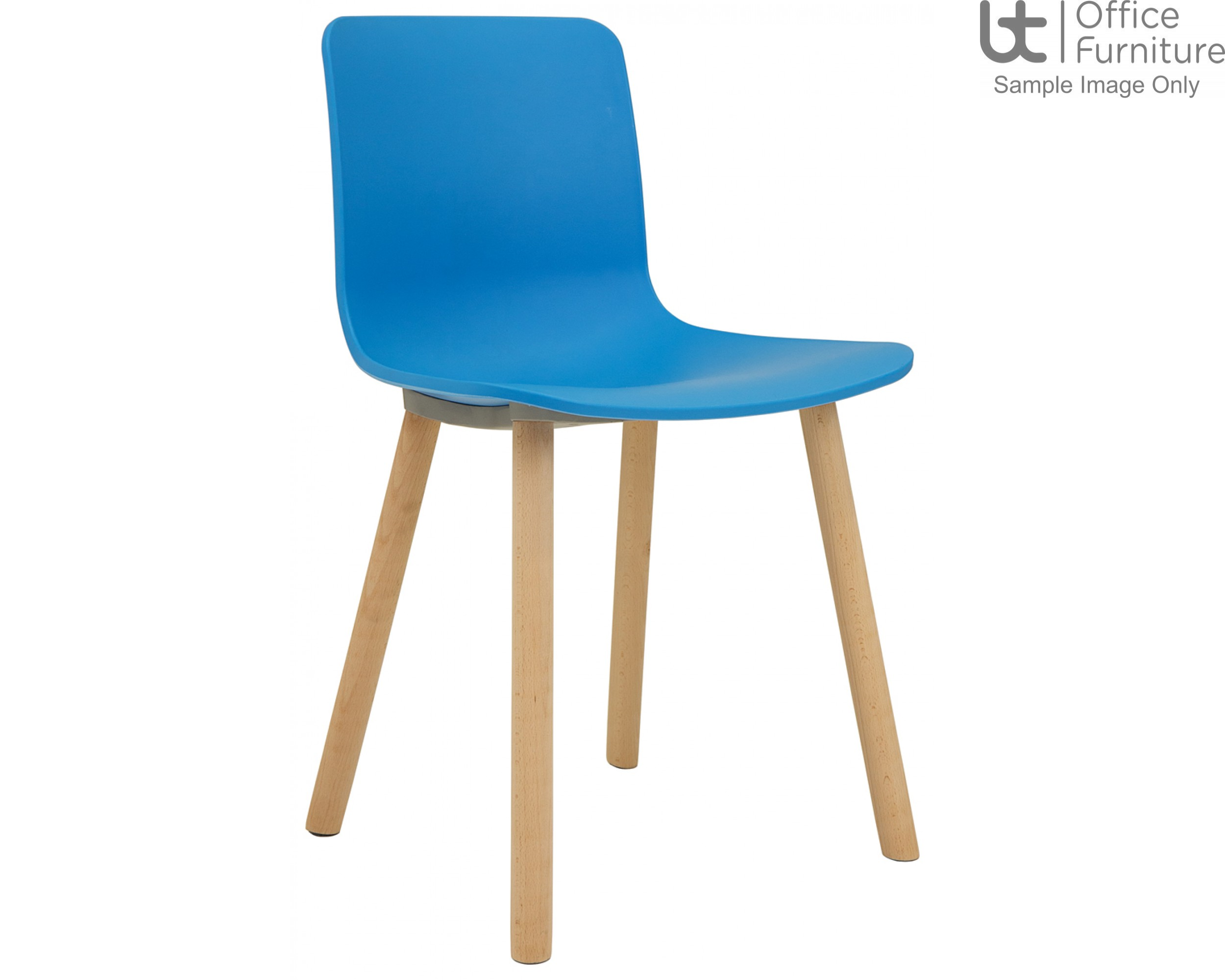 Elite Breakout Seating - Ben Polypropylene Shell Breakout Chair with Wooden Frame