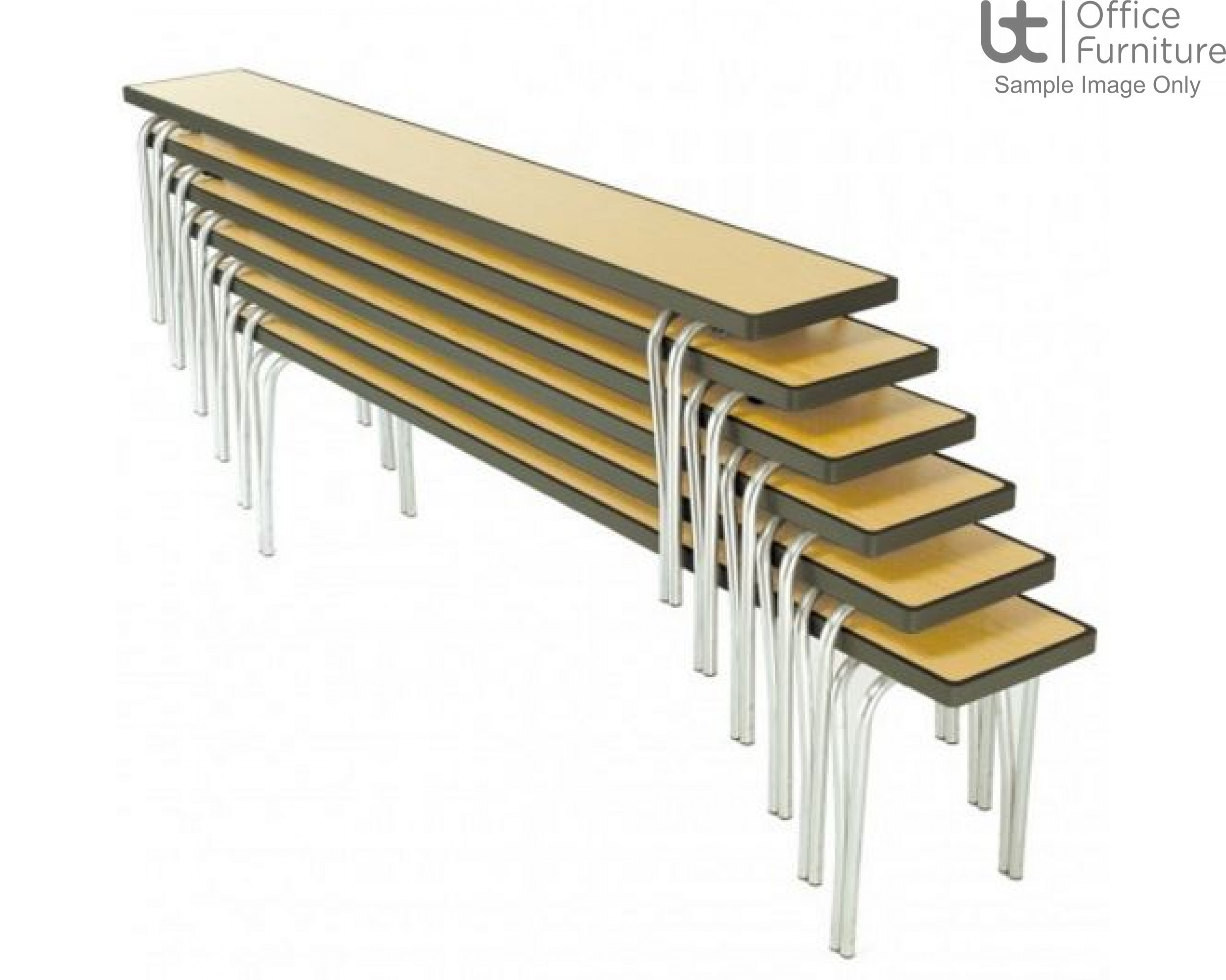 Premier Dining/Cafeteria/Canteen Stacking Benches
