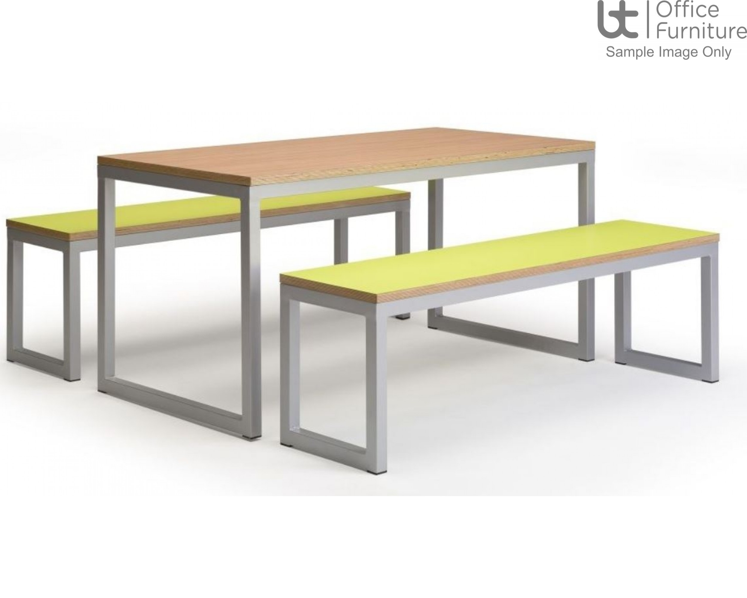 Urban 40/40 Robust 25mm Laminate Top School Bench Dining Sets W2200mm (Std Frame Colours)