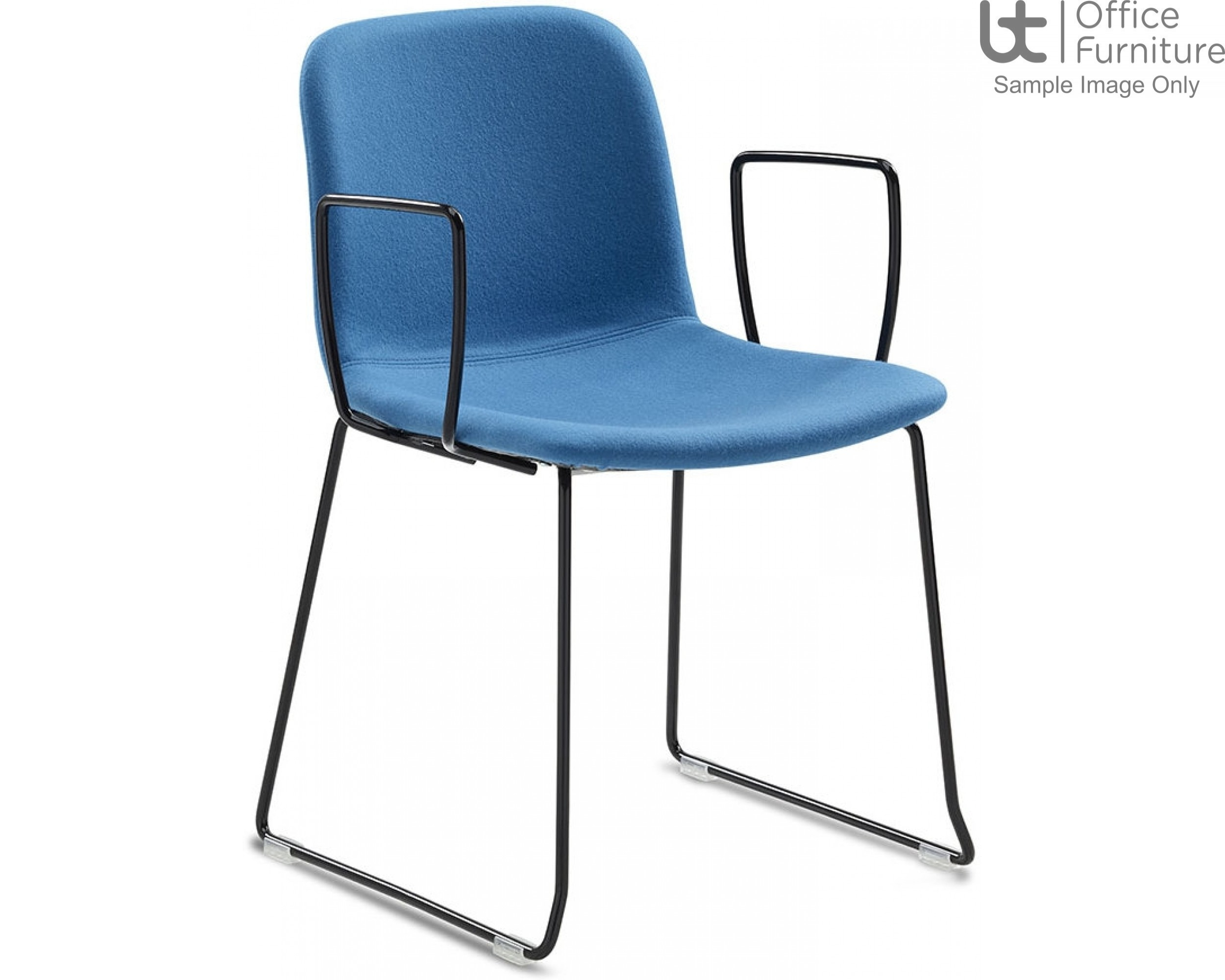 Verco Visitor / Conference Seating - Bethan Medium Back Sled Frame Chair with Arms