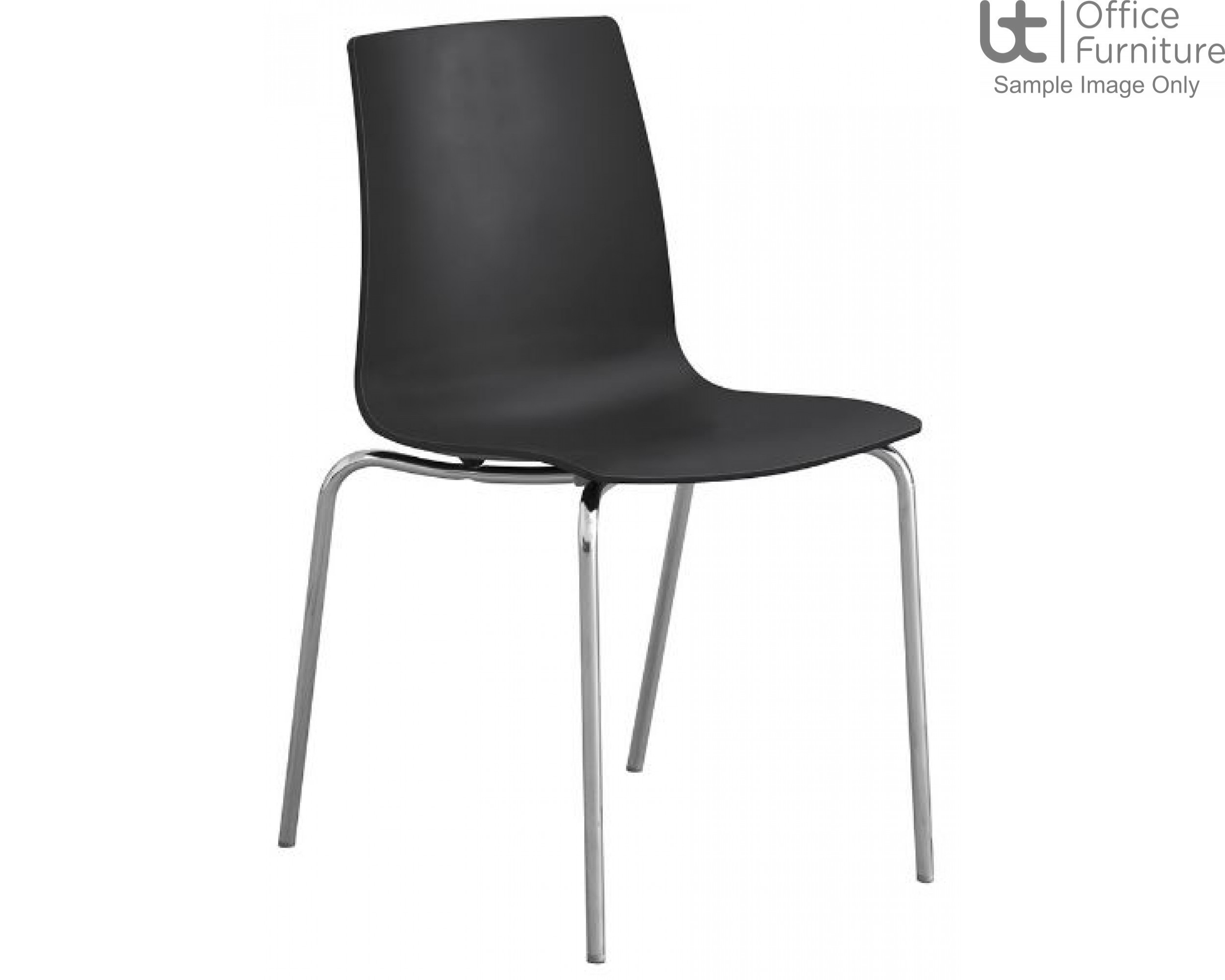 Stanza Black Cafe/Bistro/Canteen Chair