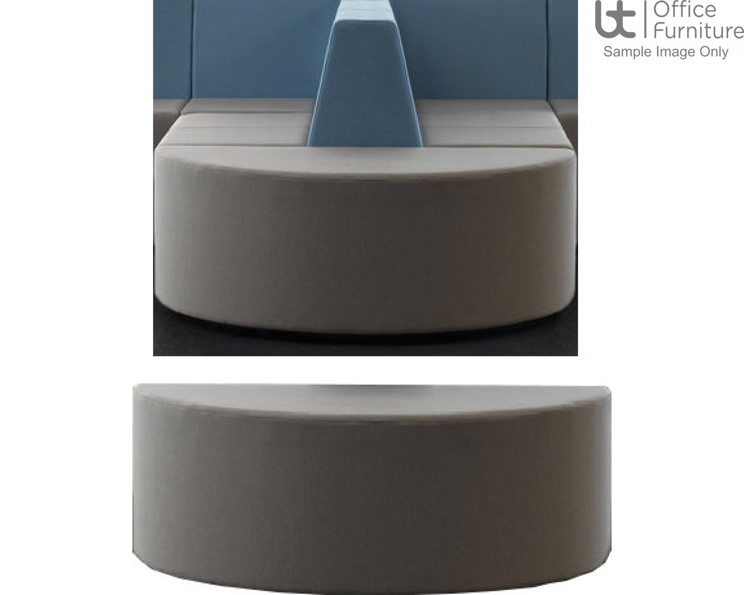 Verco Soft Seating - Box-It Landscape Semi-Circular Seating Unit for Double Back Ends