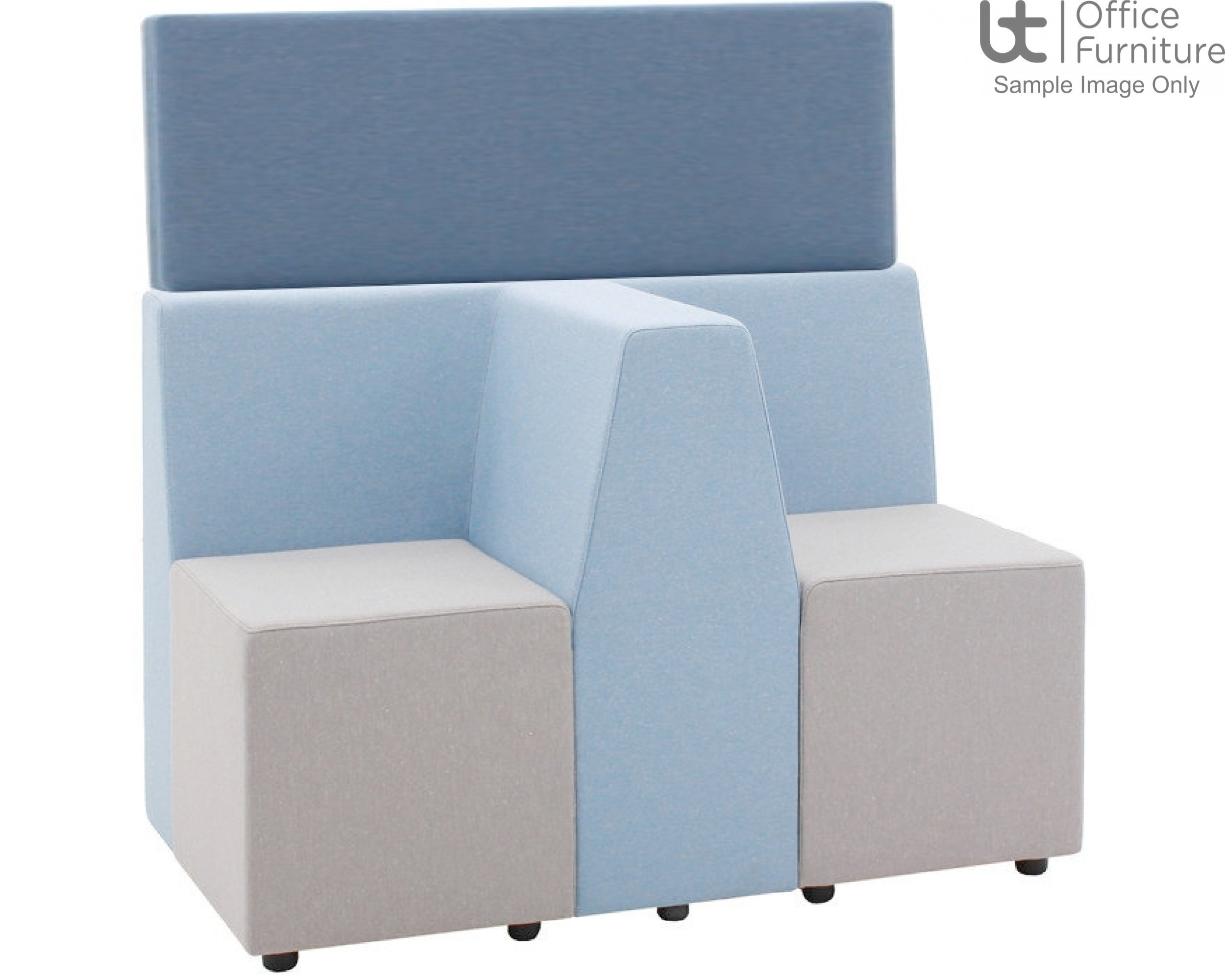 """Verco Soft Seating - Box-It Landscape High Screen for """"T"""" Section"""