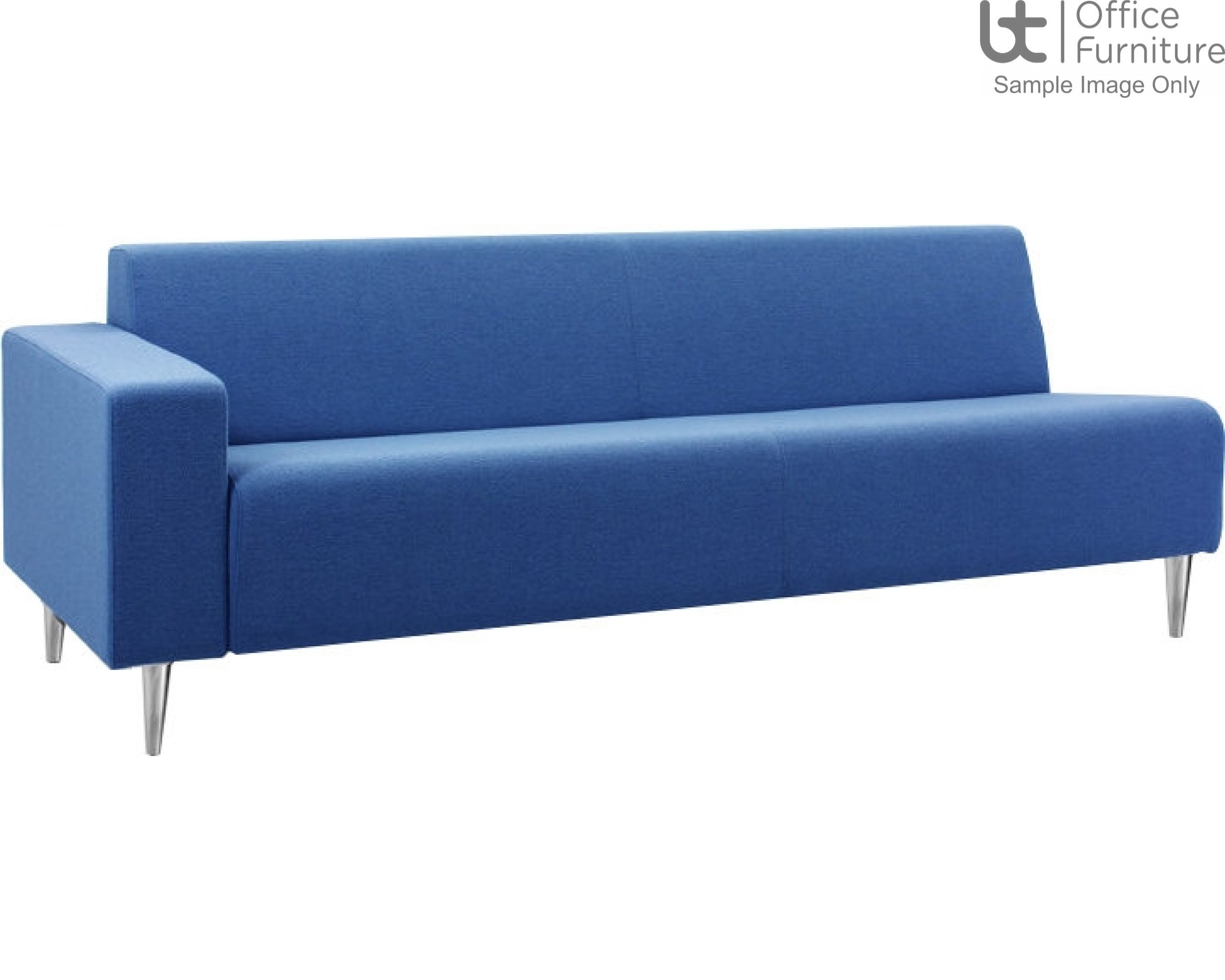 Verco Soft Seating - Bradley Three Seater Couch with a Left Hand Facing Arm