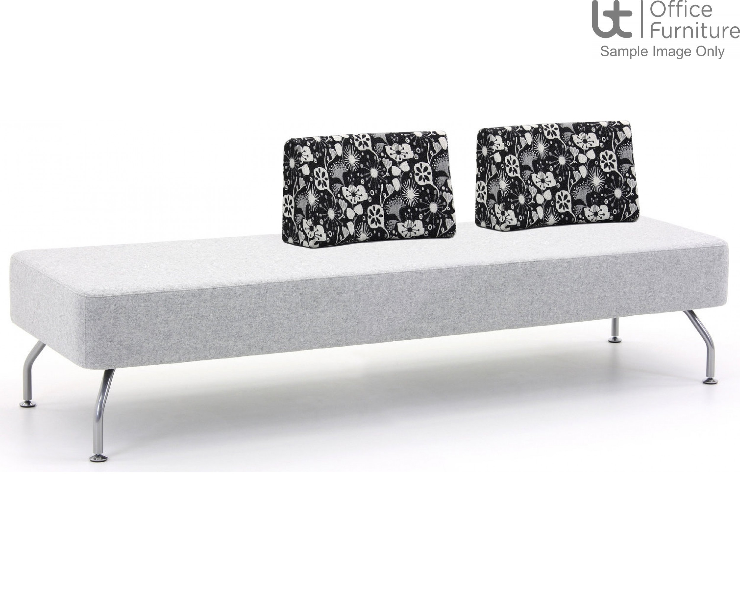 Verco Soft Seating - Brix Three Seater Unit with a Two Backs (CE)