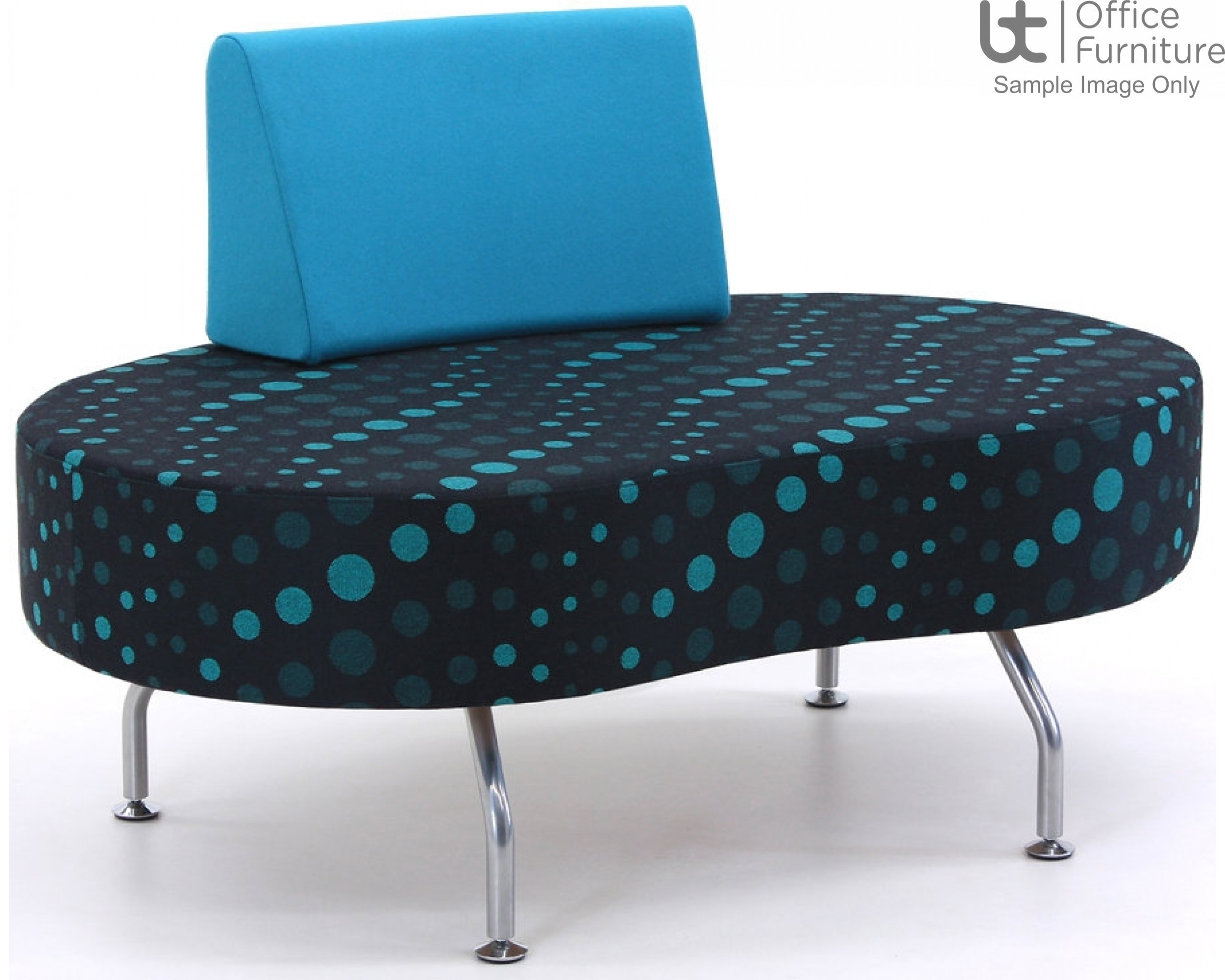 Verco Soft Seating - Brix Coffee Bean Shaped Unit with a Single Back