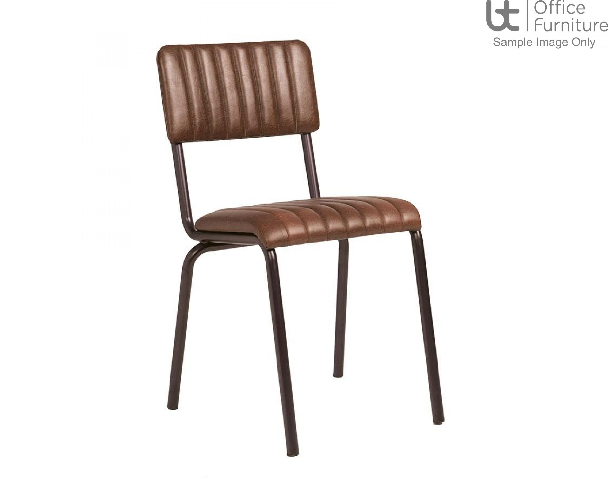 ZP CORE Ribbed Side Chair – Lascari Vintage Brown