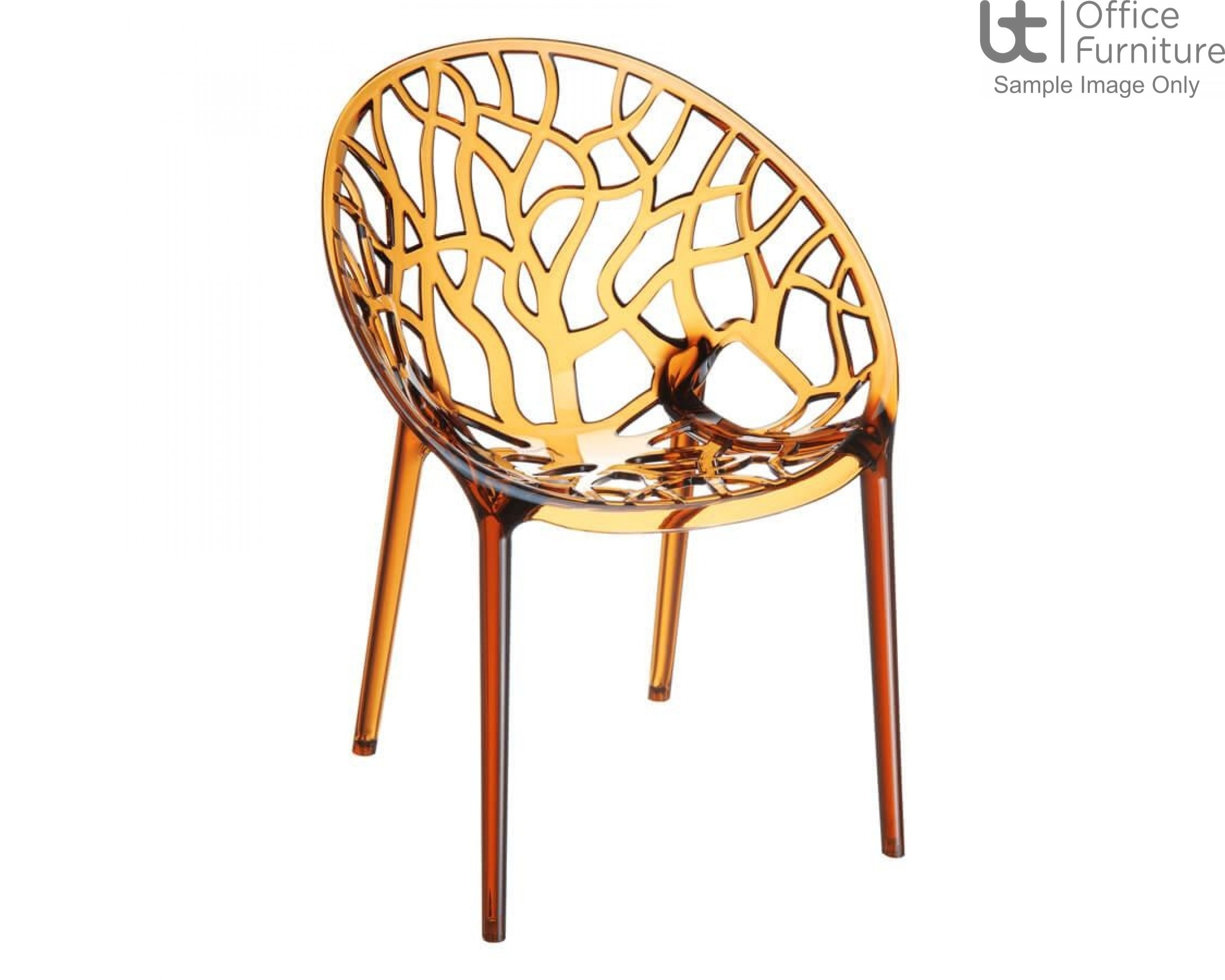 ZP CRYSTAL Chair – Amber Transparent