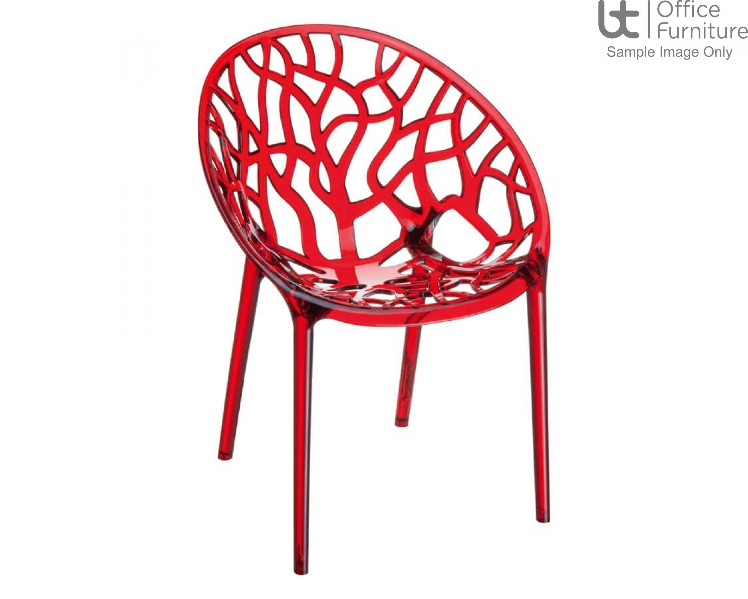 ZP CRYSTAL Chair – Red Transparent