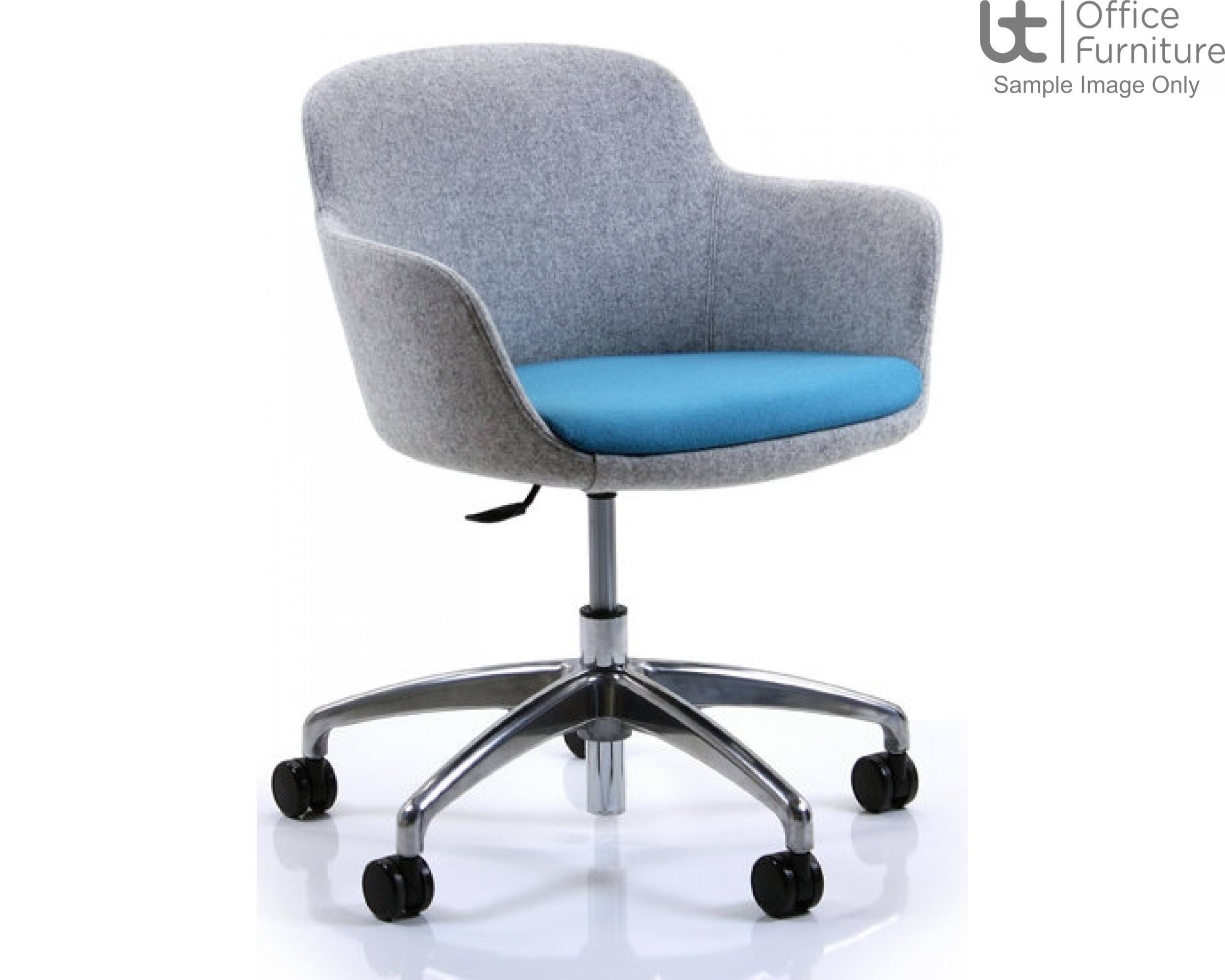Verco Soft Seating - Danny Medium Back Swivel Tub Chair with Seat Height Adjustment