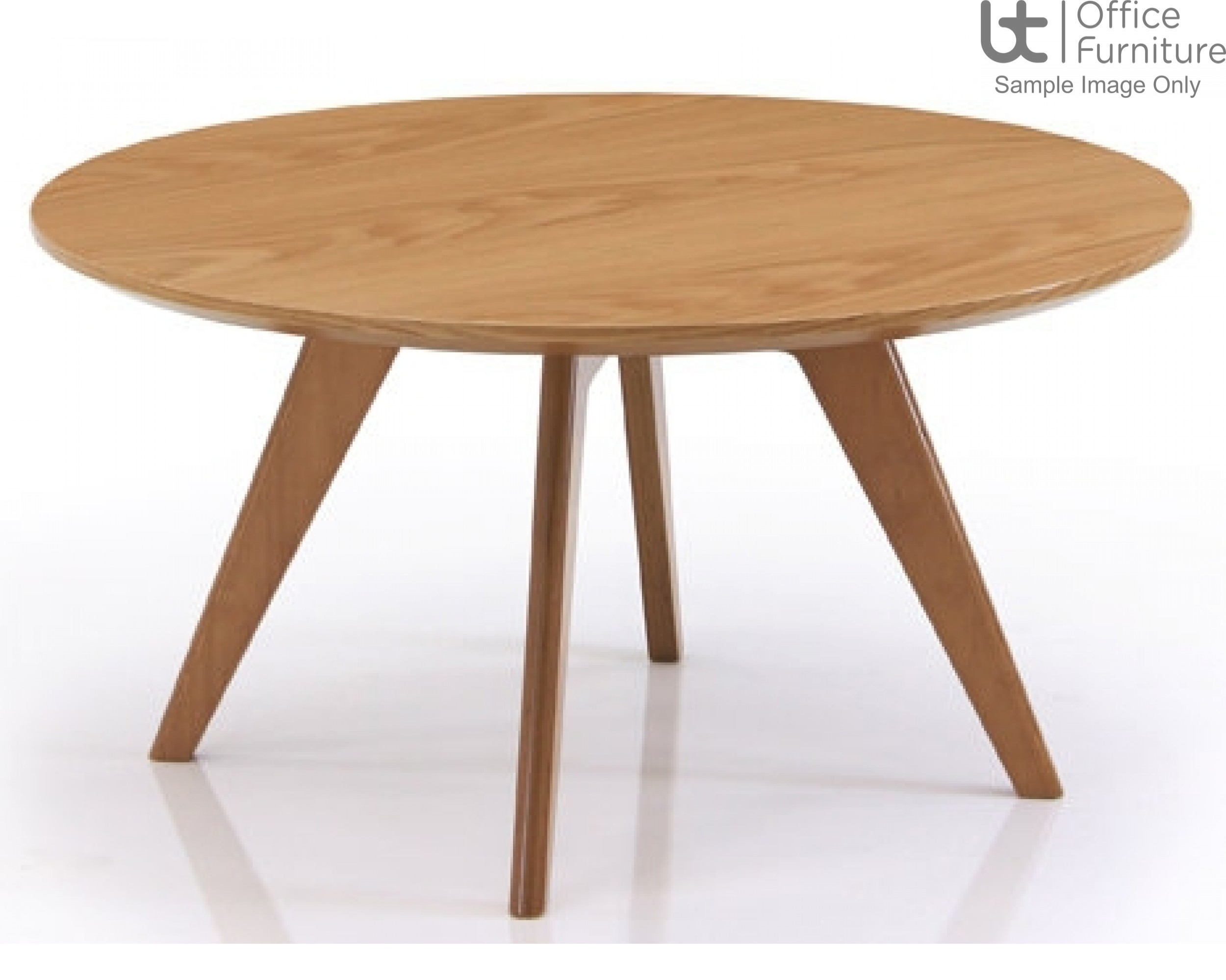 Verco Soft Seating - Danny MFC Circular Coffee Table with Solid Oak Wood Frame