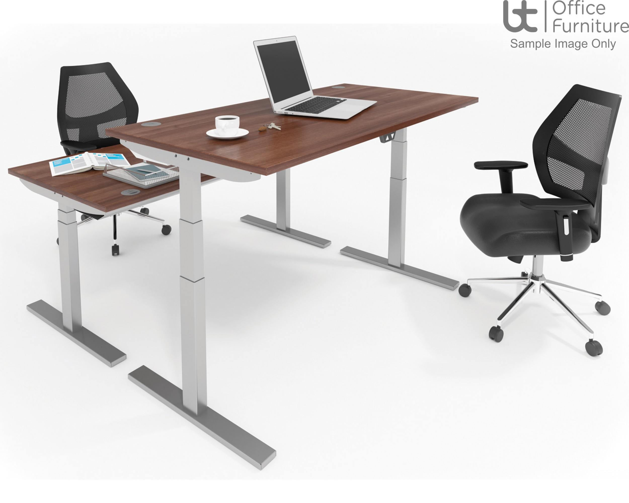 Elevated Electrical Height Adjustable Sit Stand Office Desk