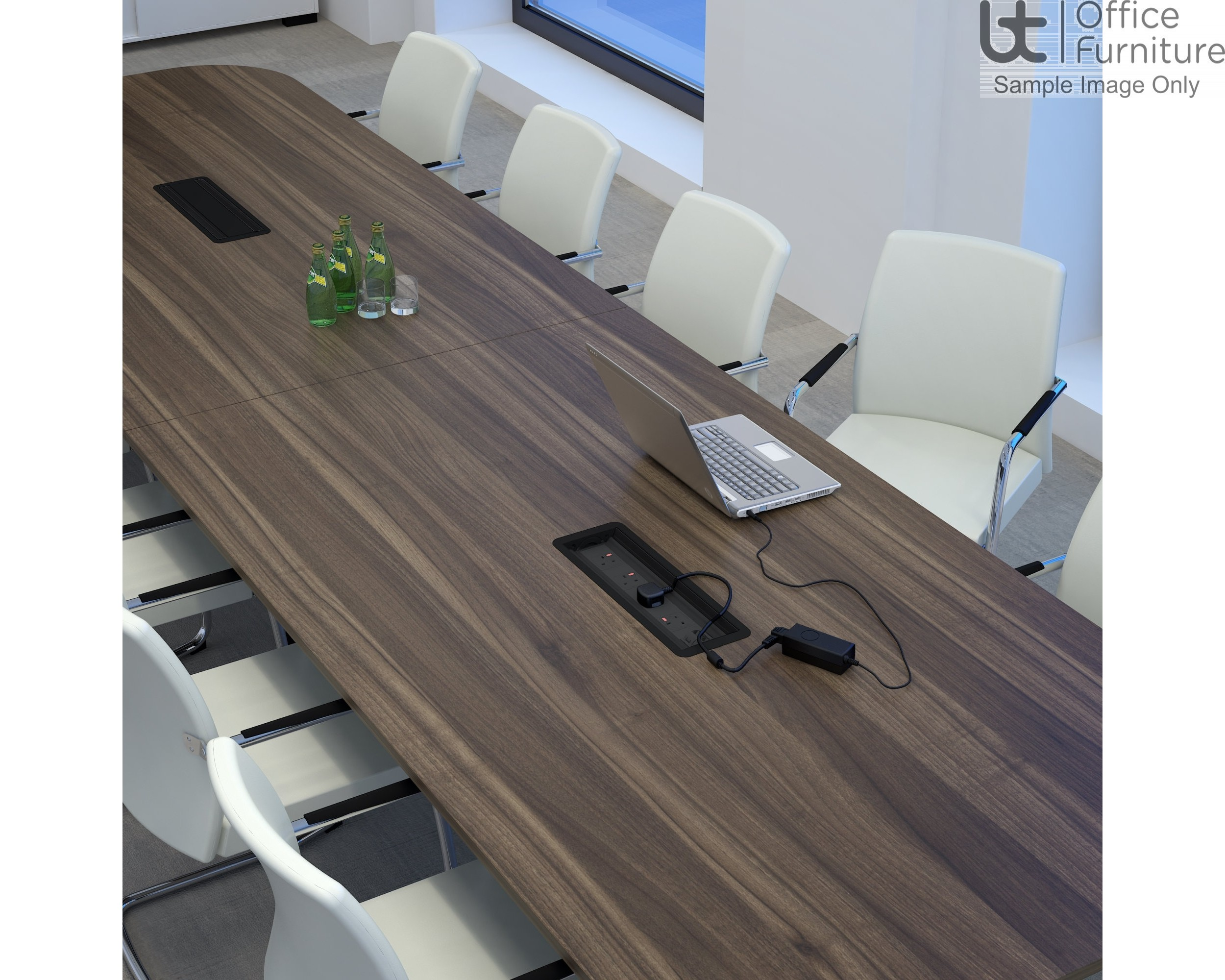 Elite Linnea Table - Double D Ended Conference Table - Seats 8 People