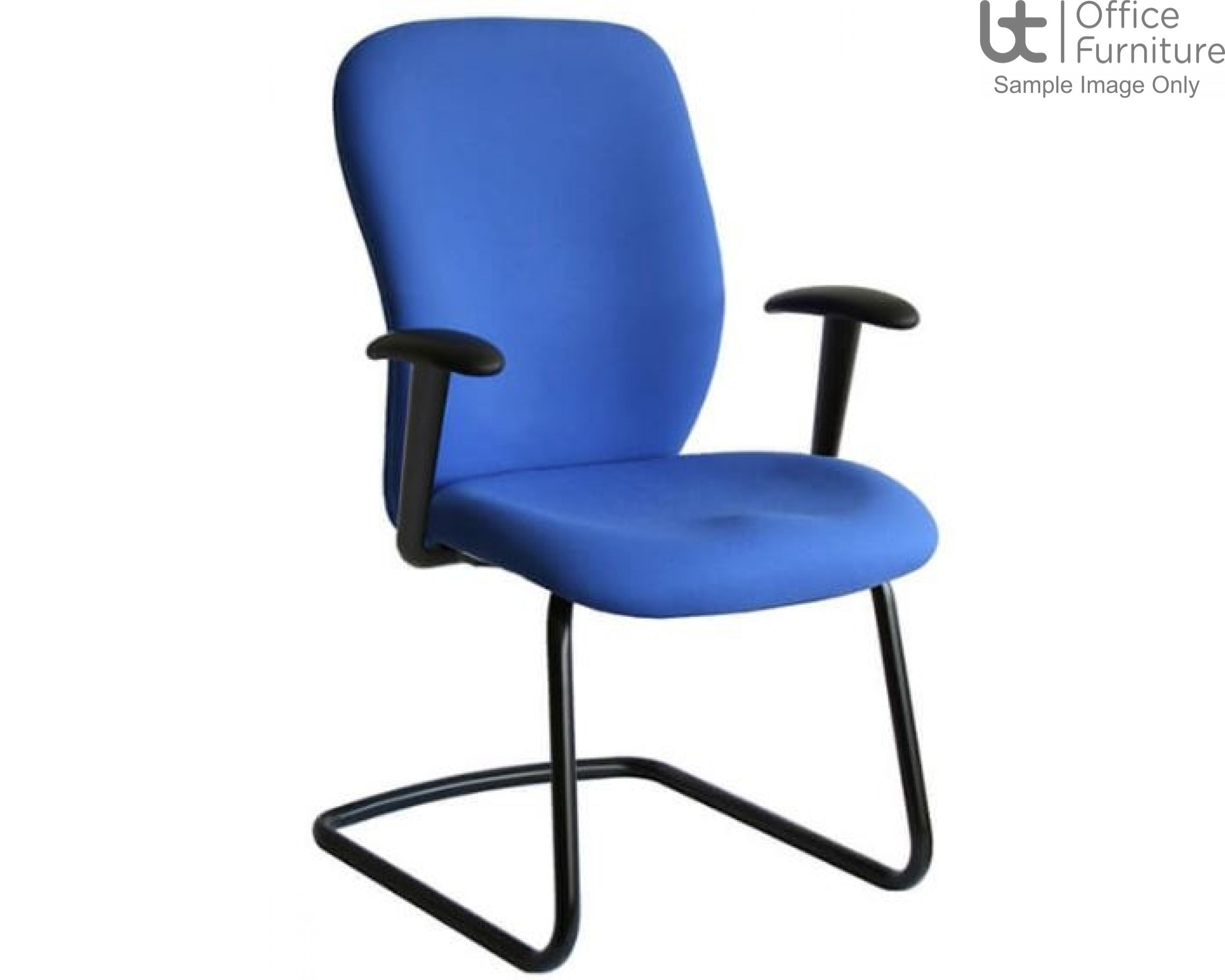 Verco Operator/Task Chair - Ergoform 1 Medium Back Visitor Chair with Arms