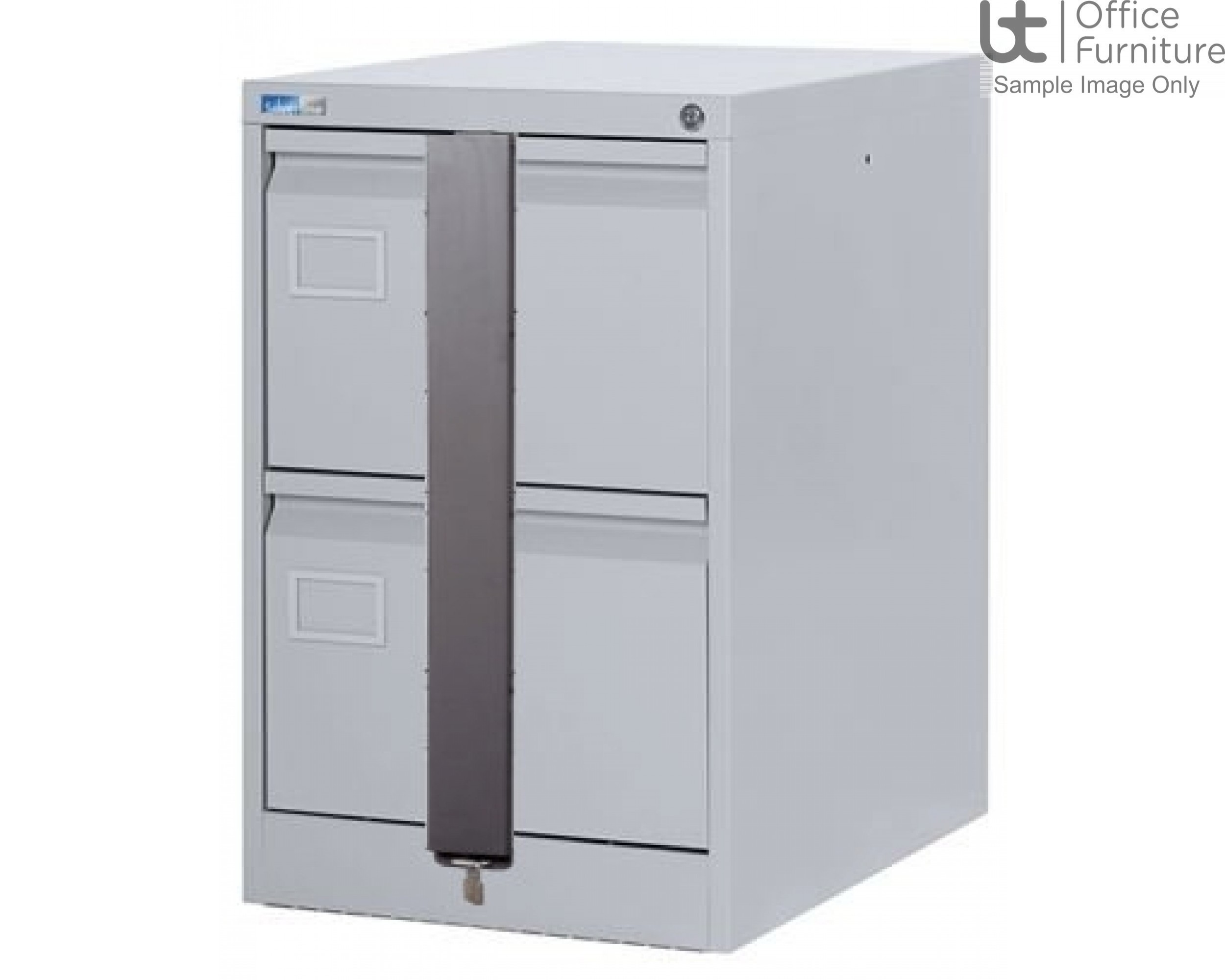 Silverline Executive 2 Drawer Filing Cabinet + Security Bar