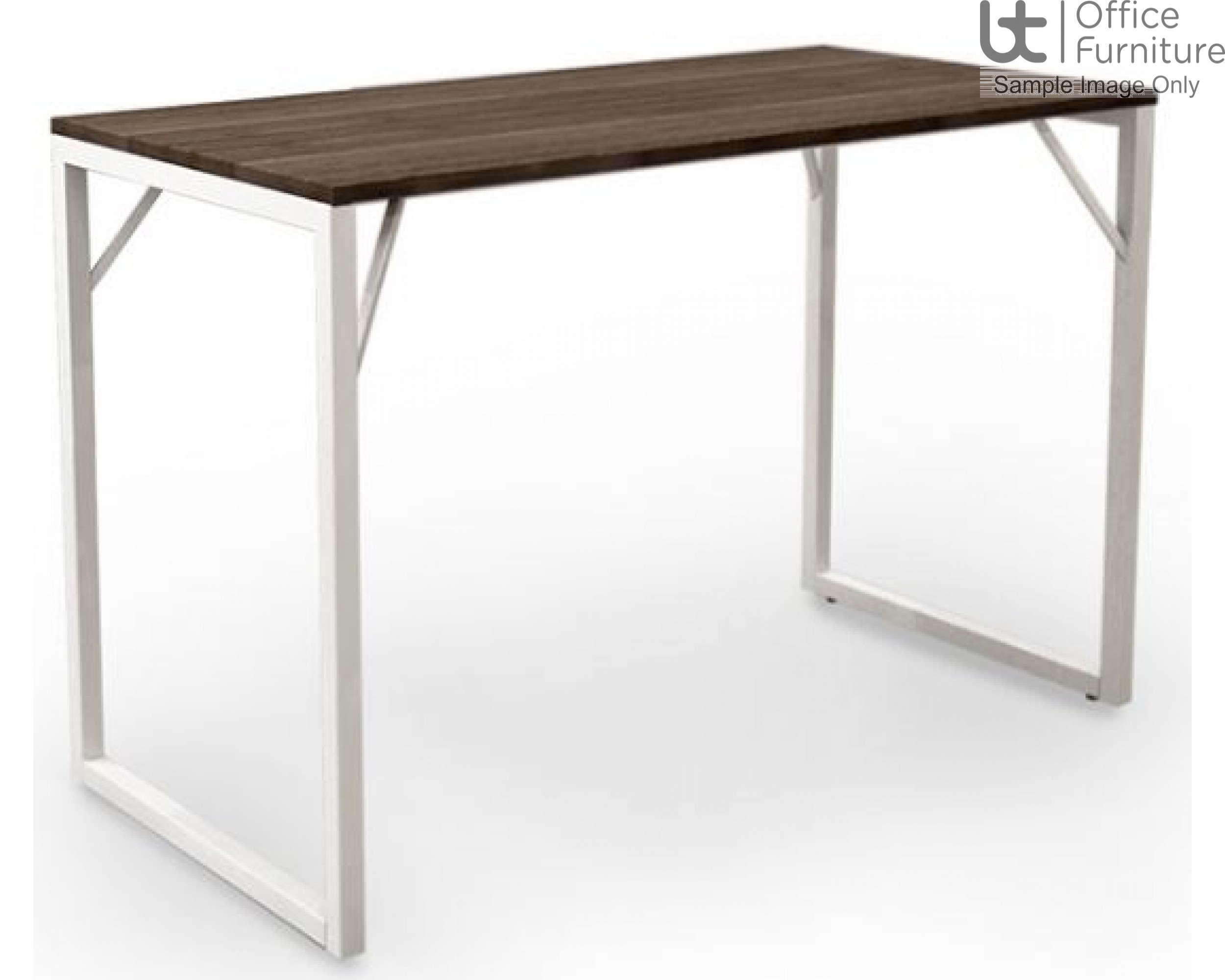 Robust Block Steel Frame High Bench Dining Table W1800 x D800 x H1100mm